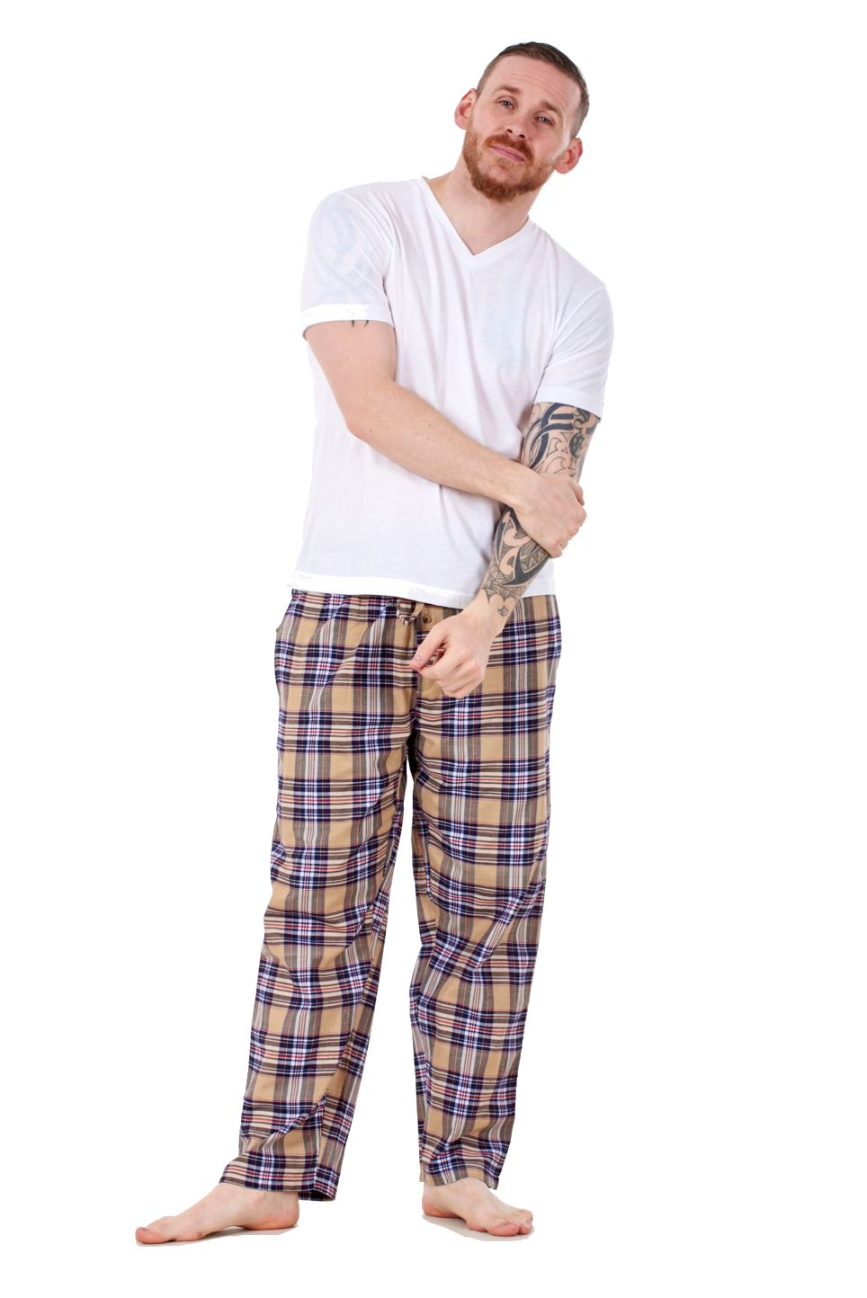 Mens-Pyjama-Bottoms-Rich-Cotton-Woven-Check-Lounge-Pant-Nightwear-Big-3XL-to-5XL Indexbild 30