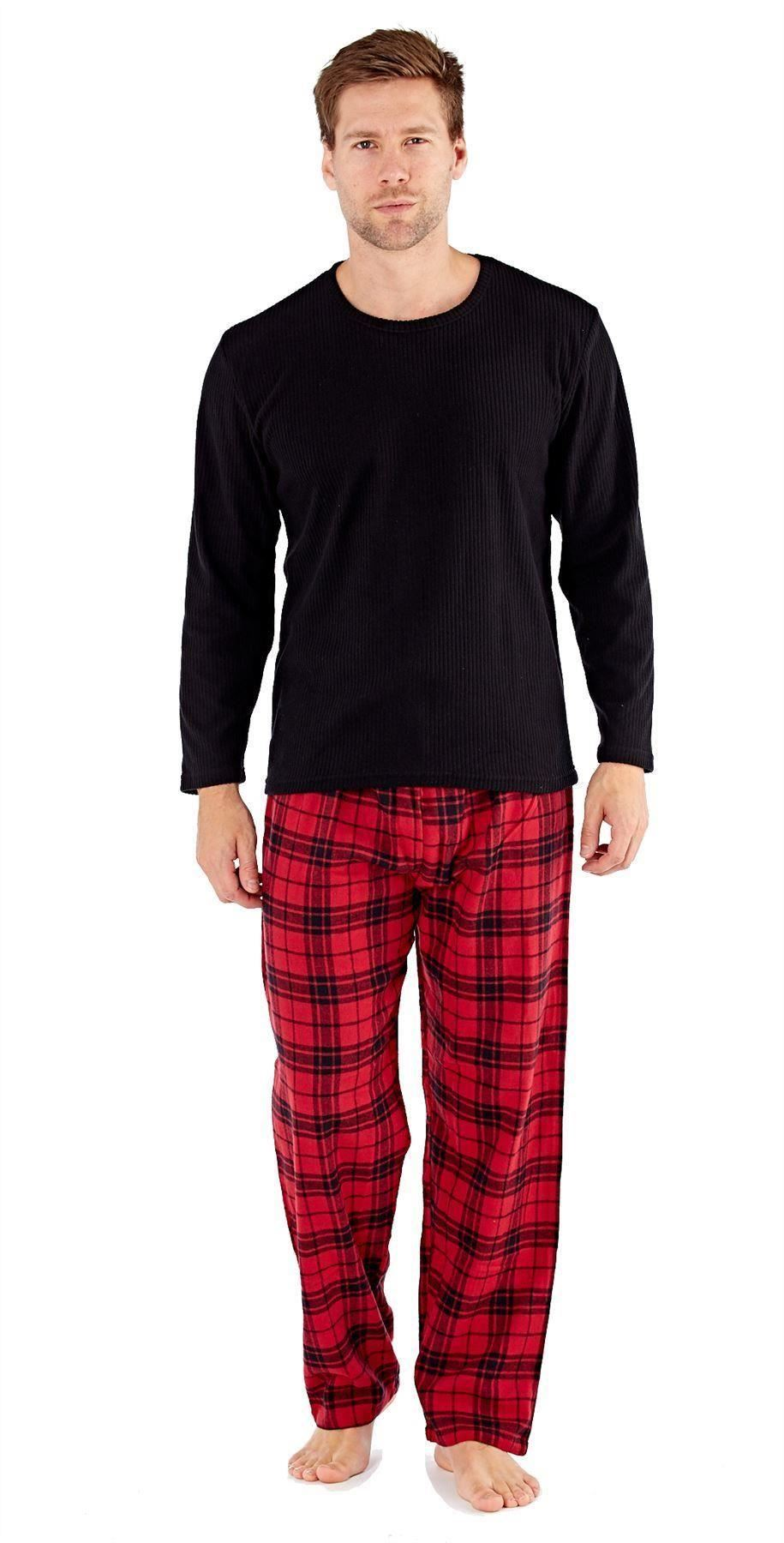Harvey James Mens Check Pyjama Pants Long Sleeve Top Lounge Sets L Red.  About this product. Picture 1 of 4  Picture 2 of 4 ... 75c185259