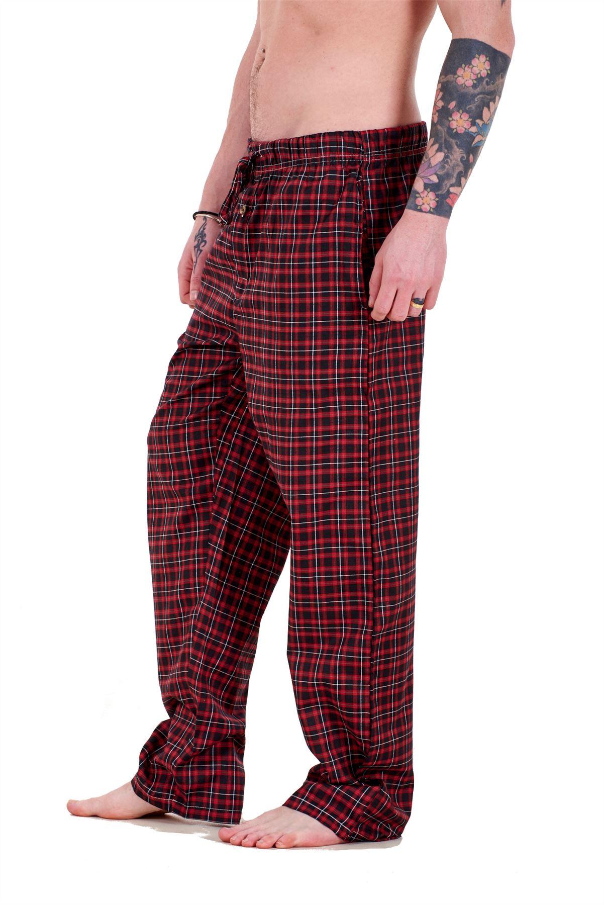 Mens-Pyjama-Bottoms-Rich-Cotton-Woven-Check-Lounge-Pant-Nightwear-Big-3XL-to-5XL Indexbild 56