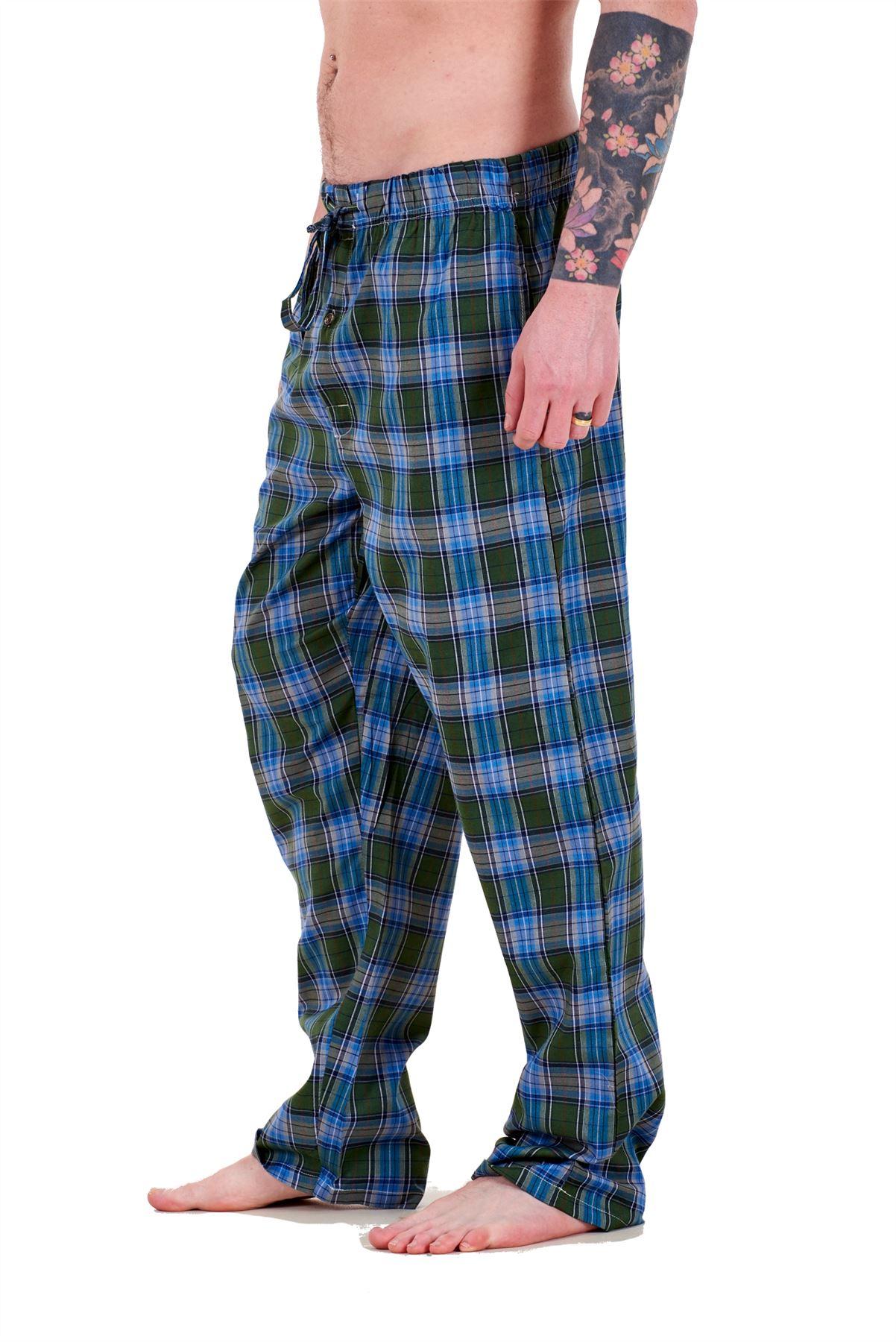 Mens-Pyjama-Bottoms-Rich-Cotton-Woven-Check-Lounge-Pant-Nightwear-Big-3XL-to-5XL Indexbild 33