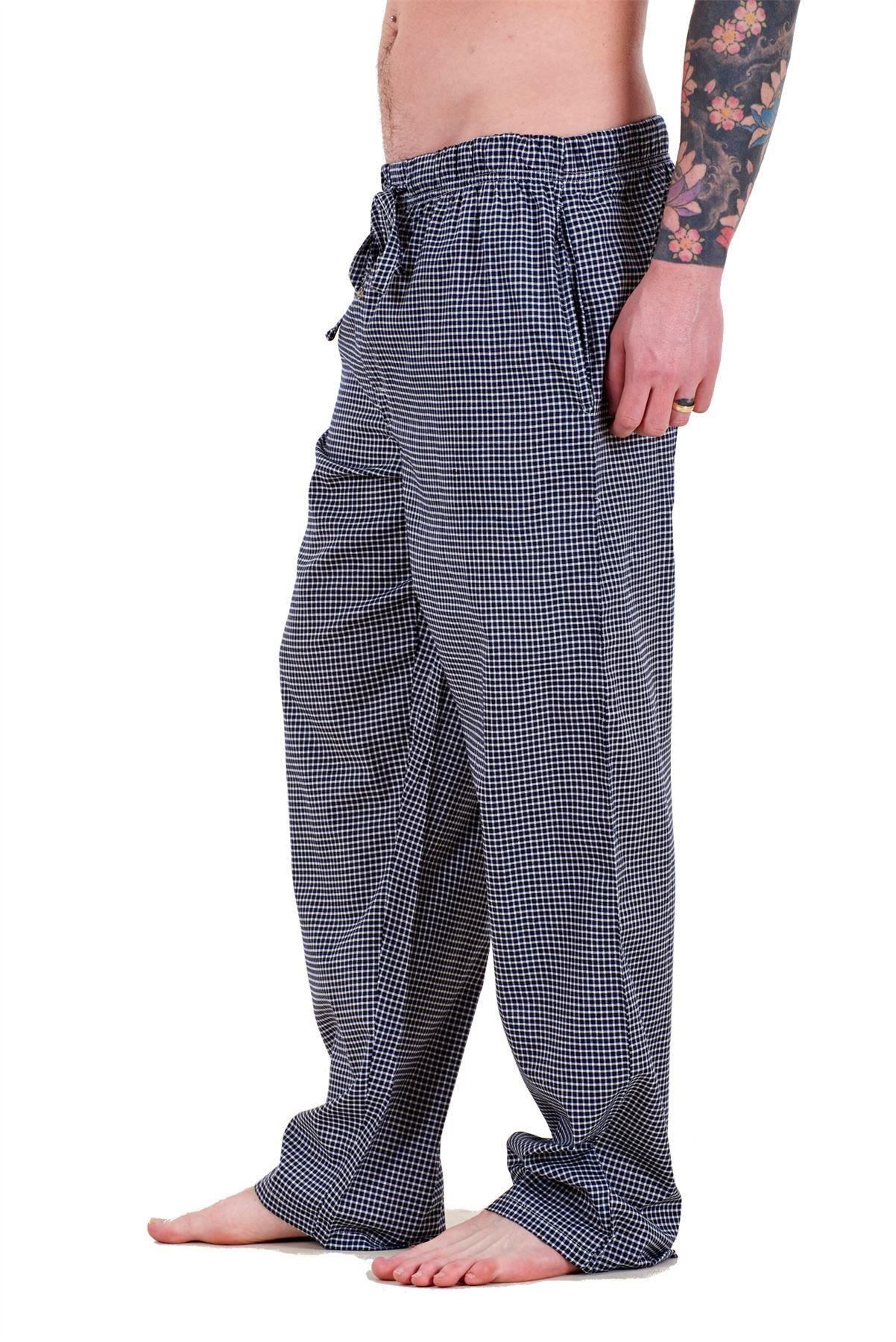 Mens-Pyjama-Bottoms-Rich-Cotton-Woven-Check-Lounge-Pant-Nightwear-Big-3XL-to-5XL Indexbild 50