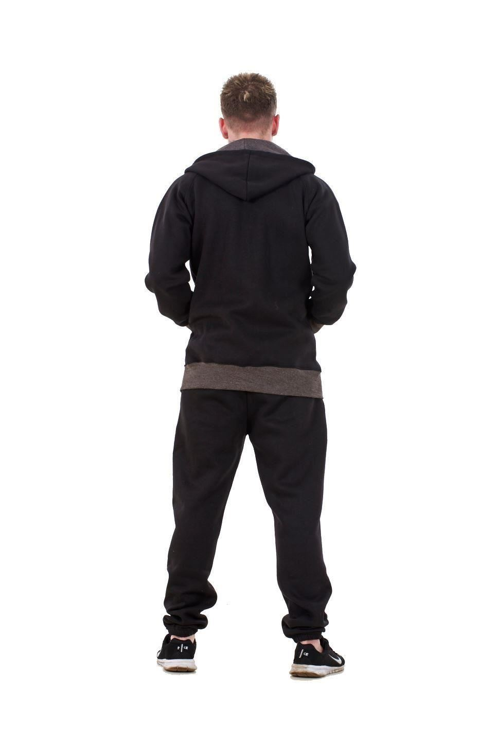 New-Mens-Tracksuit-Branded-Fleece-Hooded-Zipper-Cotton-Jogging-Bottoms-S-to-XXL thumbnail 3