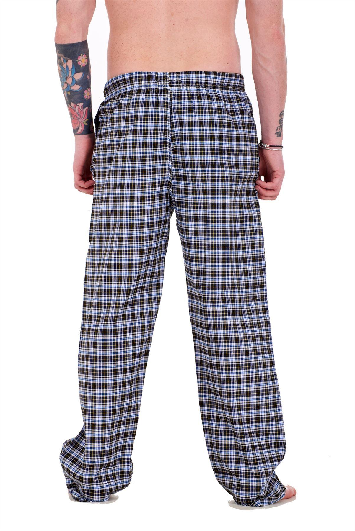 Mens-Pyjama-Bottoms-Rich-Cotton-Woven-Check-Lounge-Pant-Nightwear-Big-3XL-to-5XL Indexbild 6