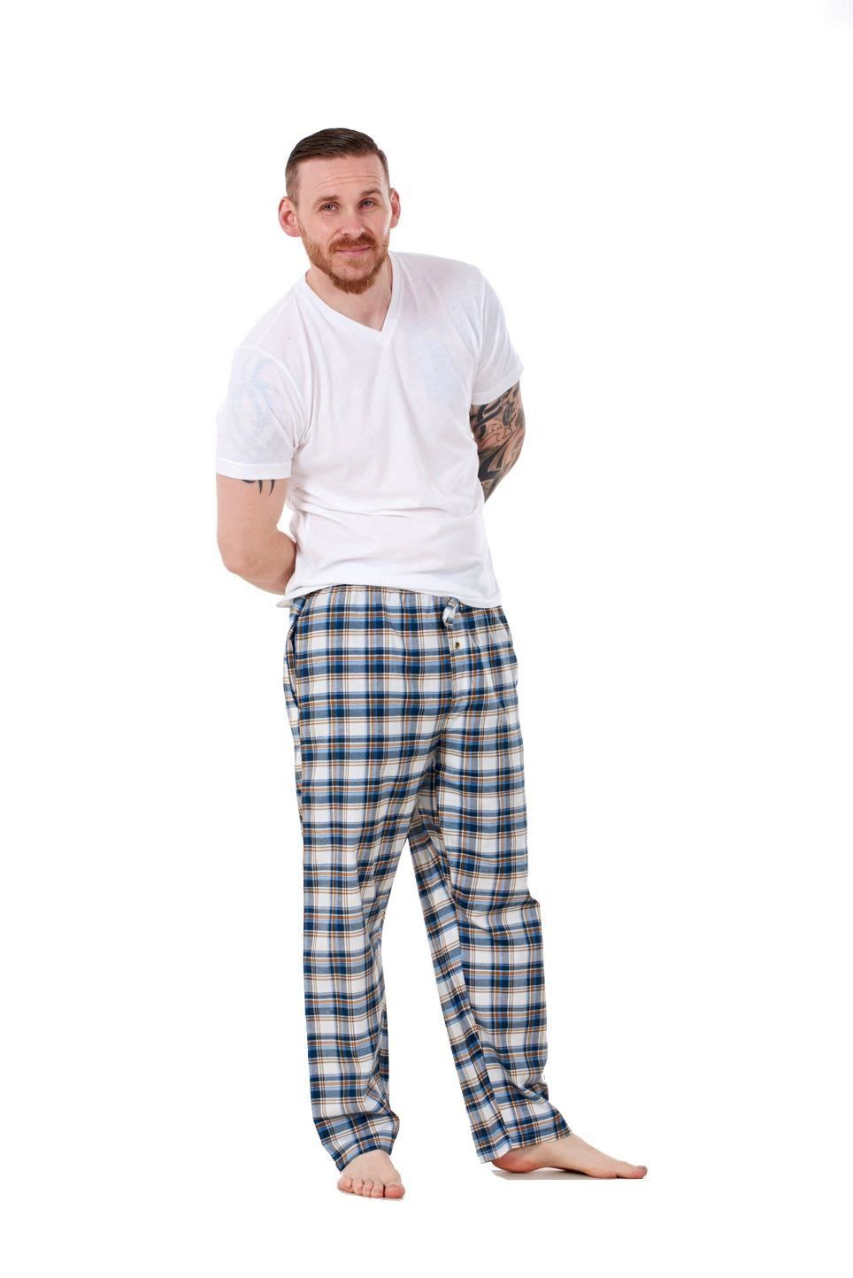Mens-Pyjama-Bottoms-Rich-Cotton-Woven-Check-Lounge-Pant-Nightwear-Big-3XL-to-5XL Indexbild 24