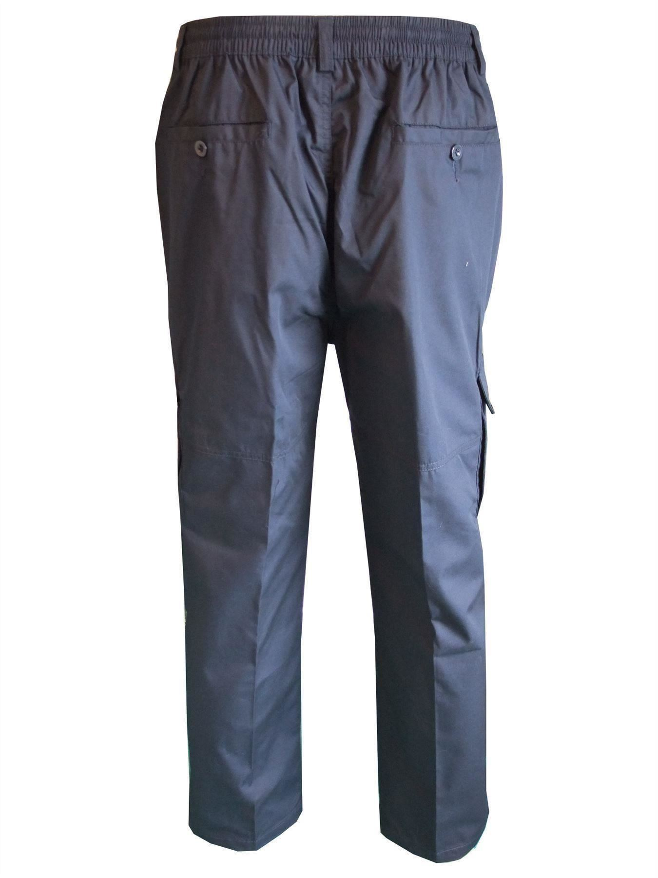 Men-Straight-Trousers-Cargo-Combat-Cotton-Elasticated-Zip-Fly-Casual-Pants-M-3XL thumbnail 22