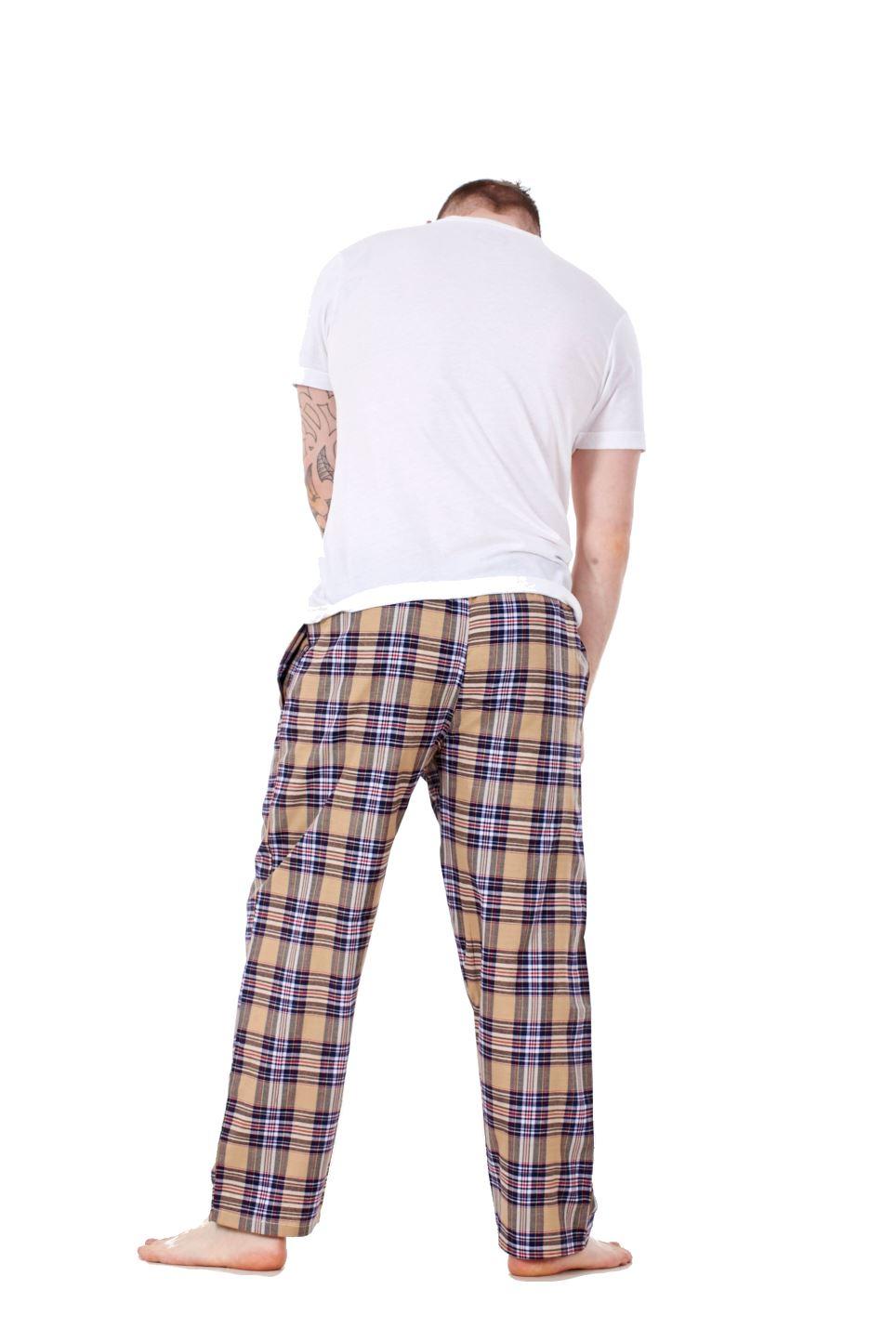 Mens-Pyjama-Bottoms-Rich-Cotton-Woven-Check-Lounge-Pant-Nightwear-Big-3XL-to-5XL Indexbild 28