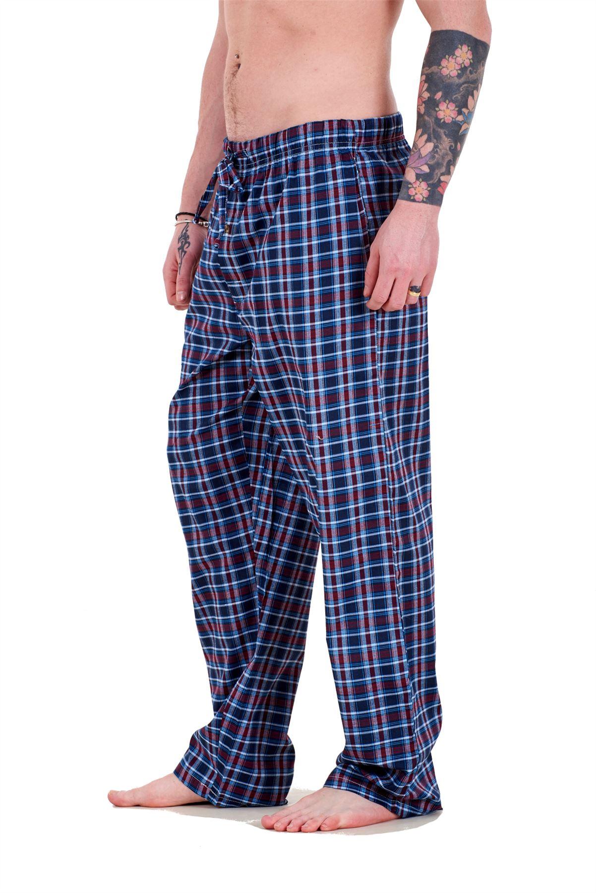 Mens-Pyjama-Bottoms-Rich-Cotton-Woven-Check-Lounge-Pant-Nightwear-Big-3XL-to-5XL Indexbild 54