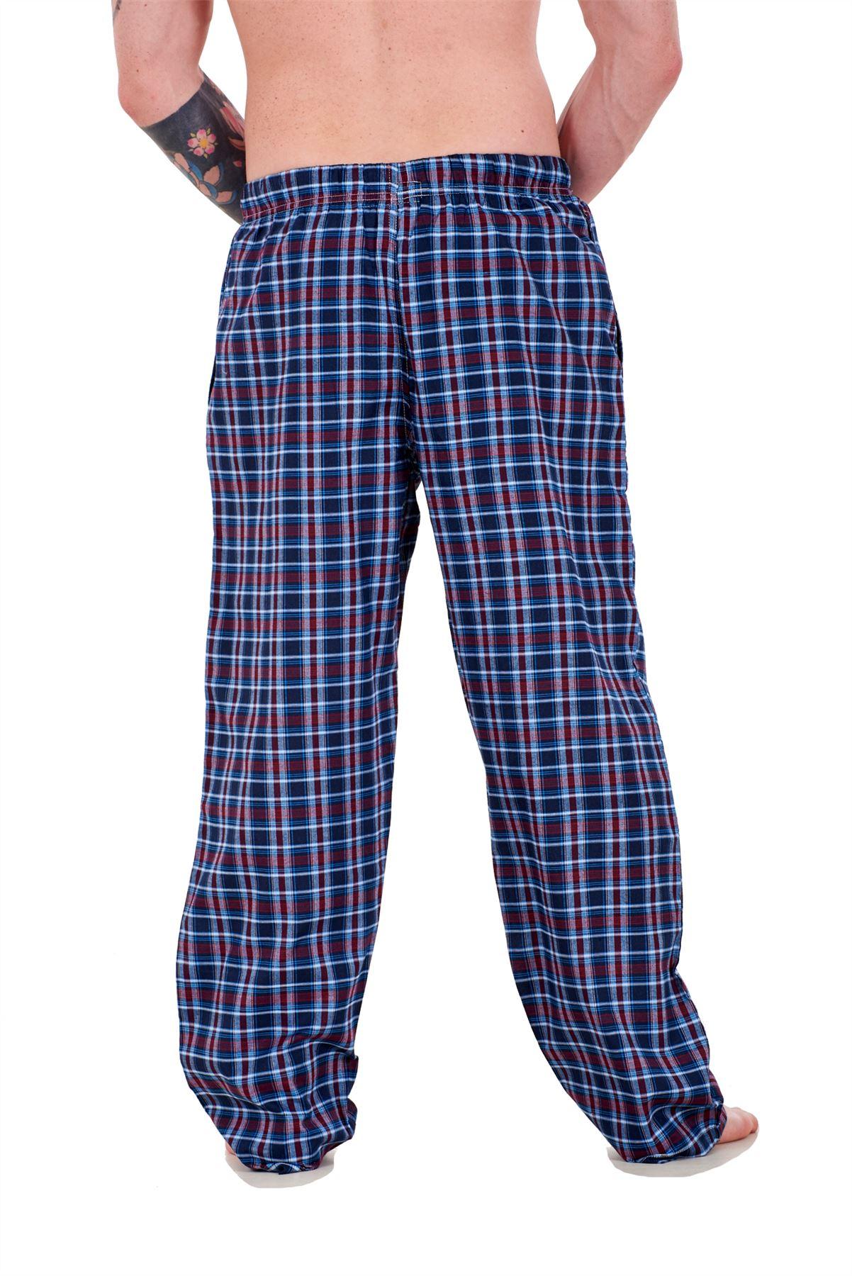 Mens-Pyjama-Bottoms-Rich-Cotton-Woven-Check-Lounge-Pant-Nightwear-Big-3XL-to-5XL Indexbild 53