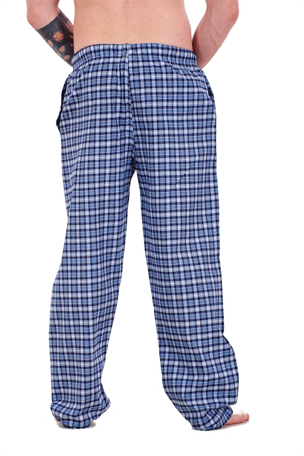 Mens-Pyjama-Bottoms-Rich-Cotton-Woven-Check-Lounge-Pant-Nightwear-Big-3XL-to-5XL Indexbild 13