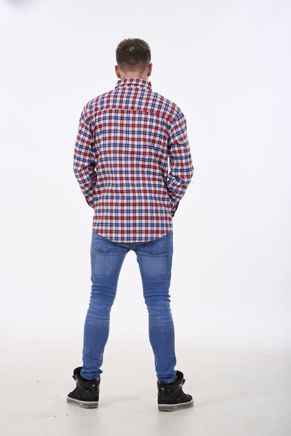 121798cbbcb Mens Checked Shirt Malay Apparel Cotton Casual Wear Long Sleeve ...