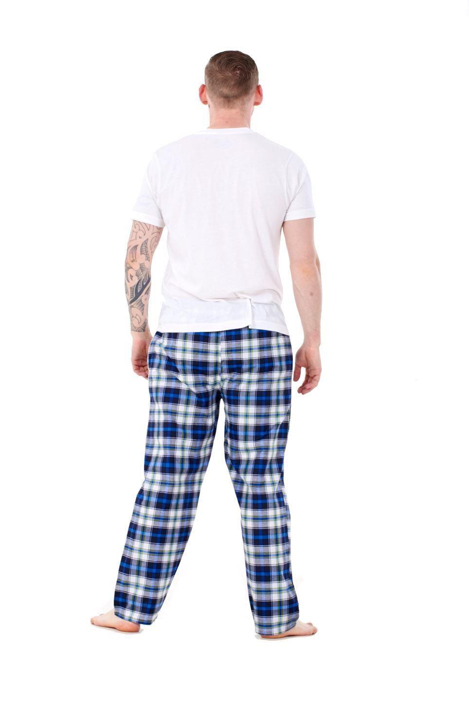 Mens-Pyjama-Bottoms-Rich-Cotton-Woven-Check-Lounge-Pant-Nightwear-Big-3XL-to-5XL Indexbild 45