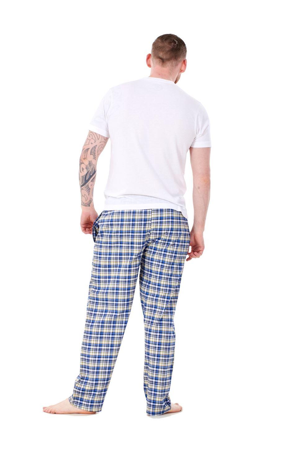 Mens-Pyjama-Bottoms-Rich-Cotton-Woven-Check-Lounge-Pant-Nightwear-Big-3XL-to-5XL Indexbild 22