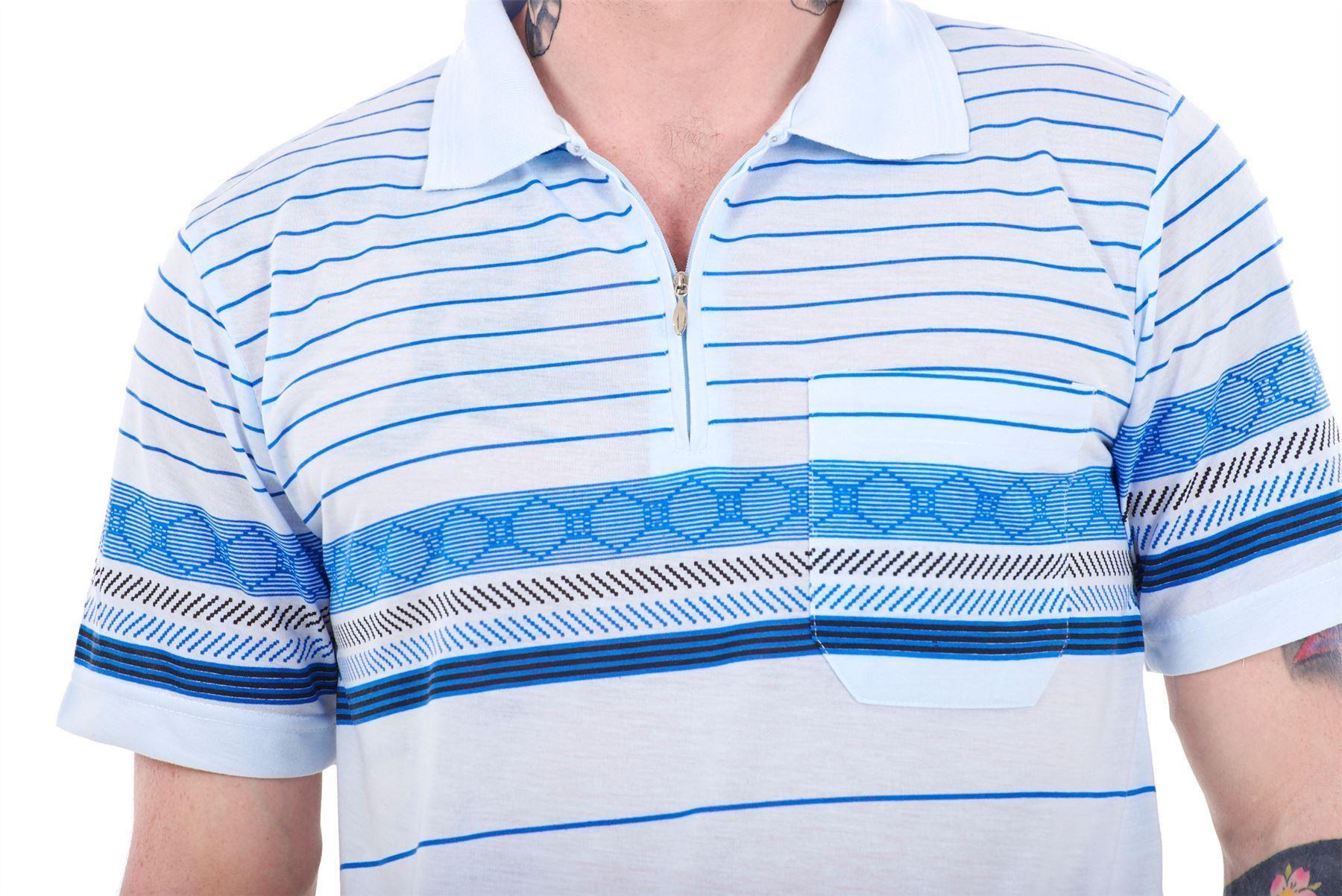 Aztèque Imprimé Polo Homme Causal Shirt Summer Loose T xRAqI8Z