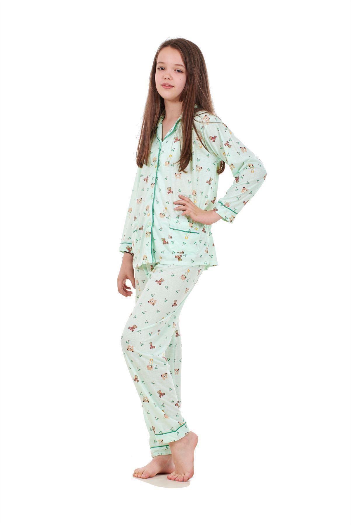 Teddy Long Girls Pyjamas w18 18-24 Months Pink