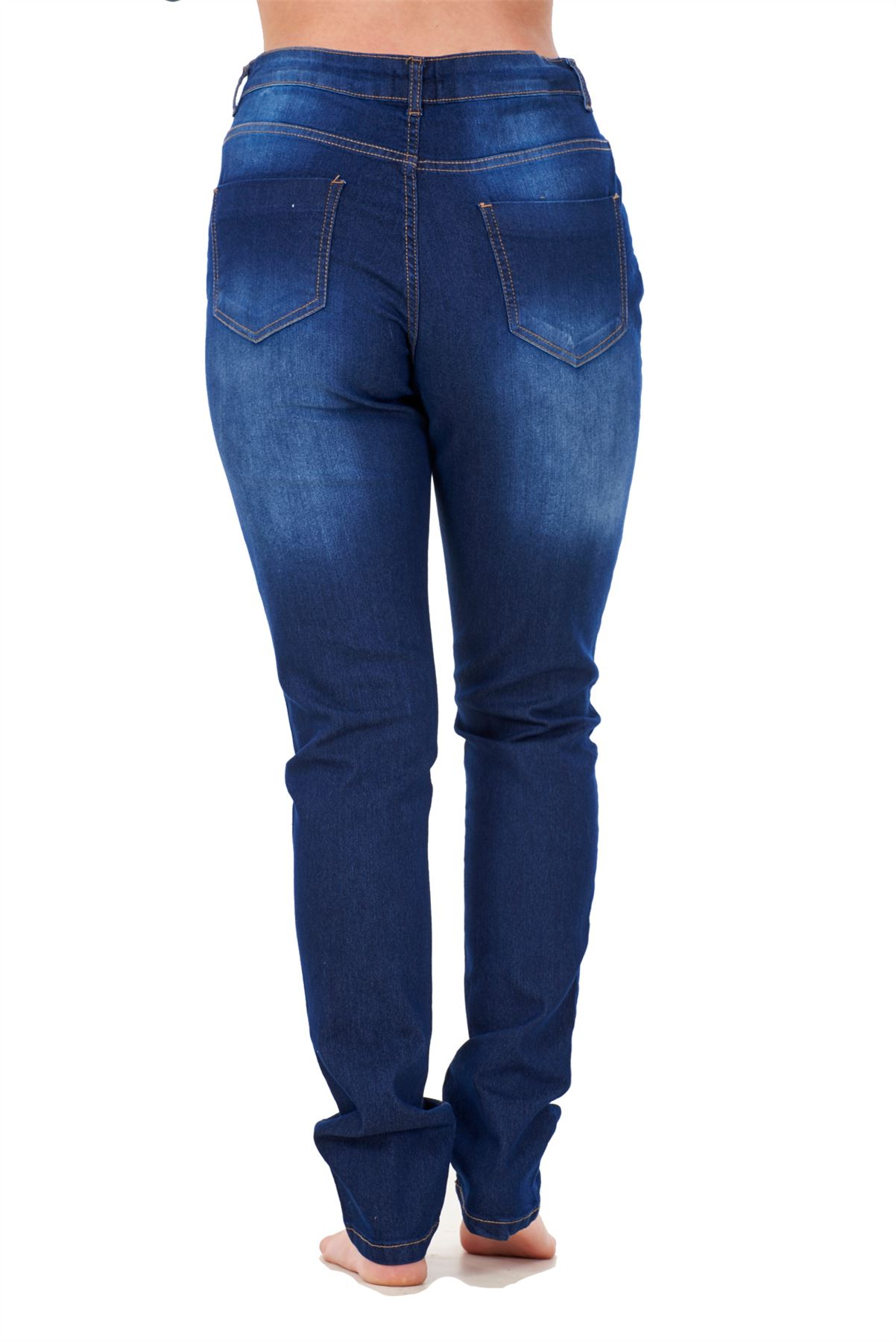 Ladies-Stretch-Jeans-Denim-cotton-Zip-fly-High-Waisted-Slim-Fit-Trousers-Pants thumbnail 16