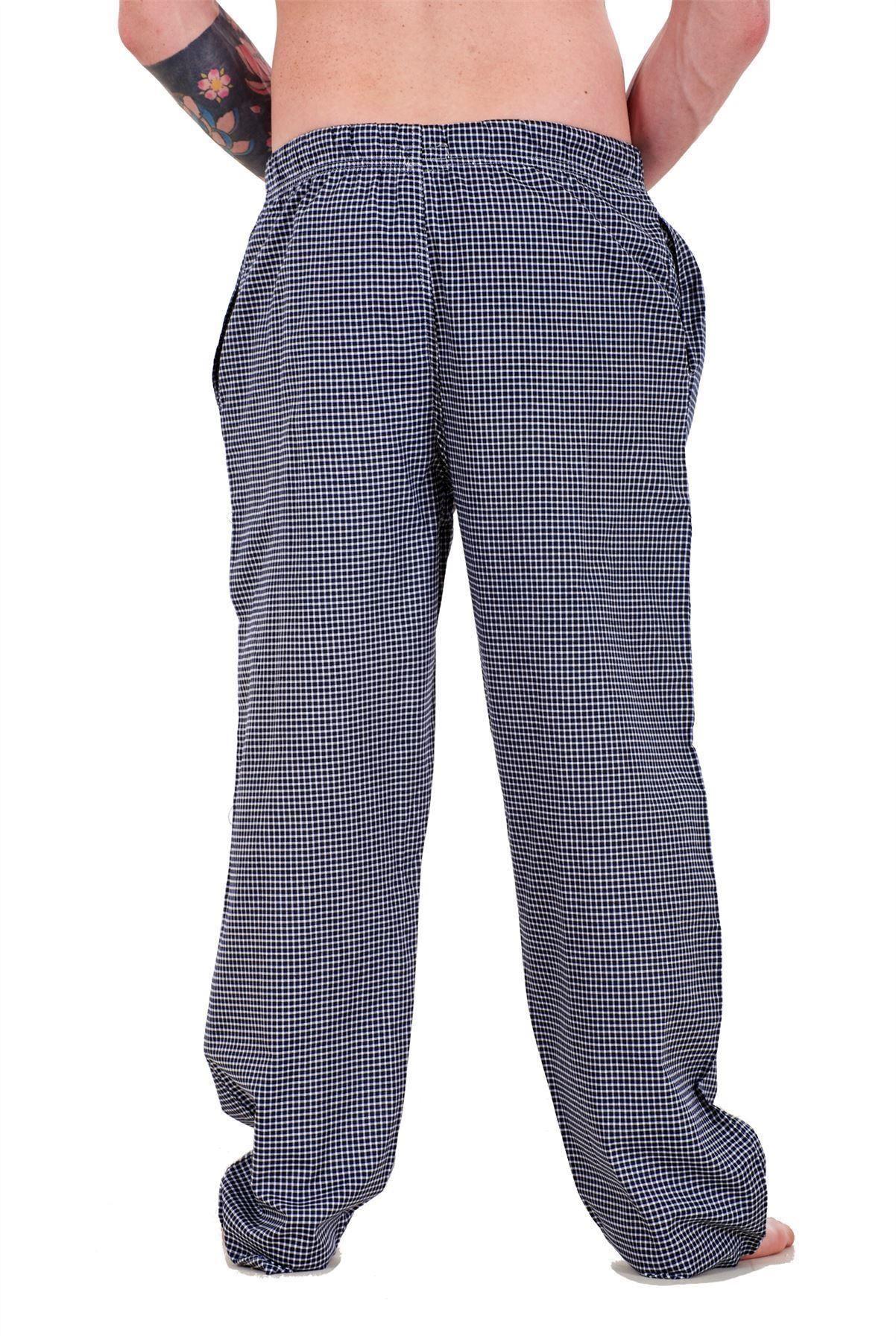 Mens-Pyjama-Bottoms-Rich-Cotton-Woven-Check-Lounge-Pant-Nightwear-Big-3XL-to-5XL Indexbild 48