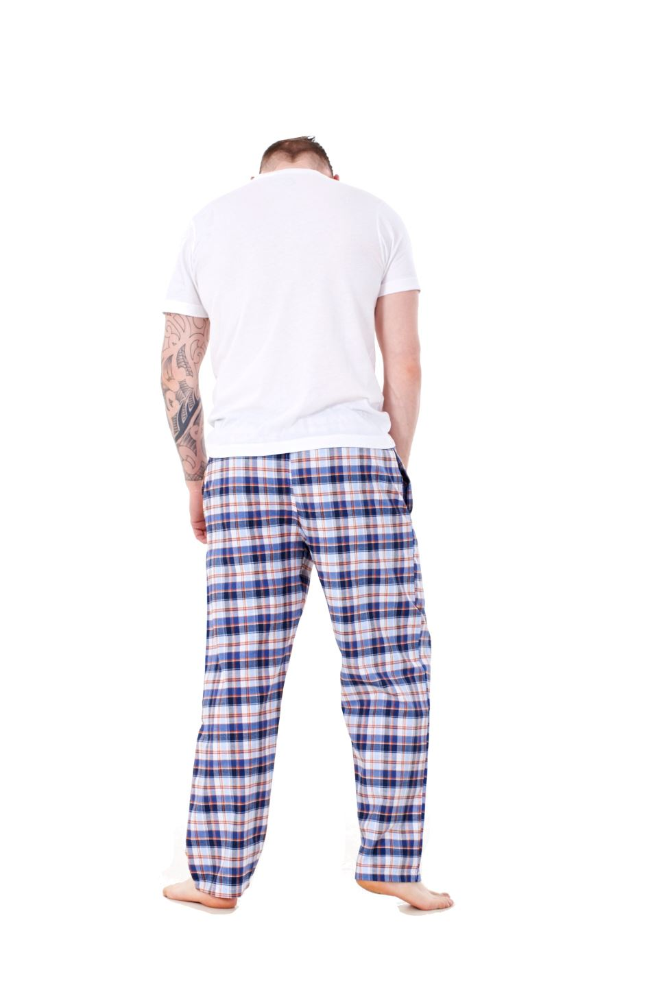 Mens-Pyjama-Bottoms-Rich-Cotton-Woven-Check-Lounge-Pant-Nightwear-Big-3XL-to-5XL Indexbild 18