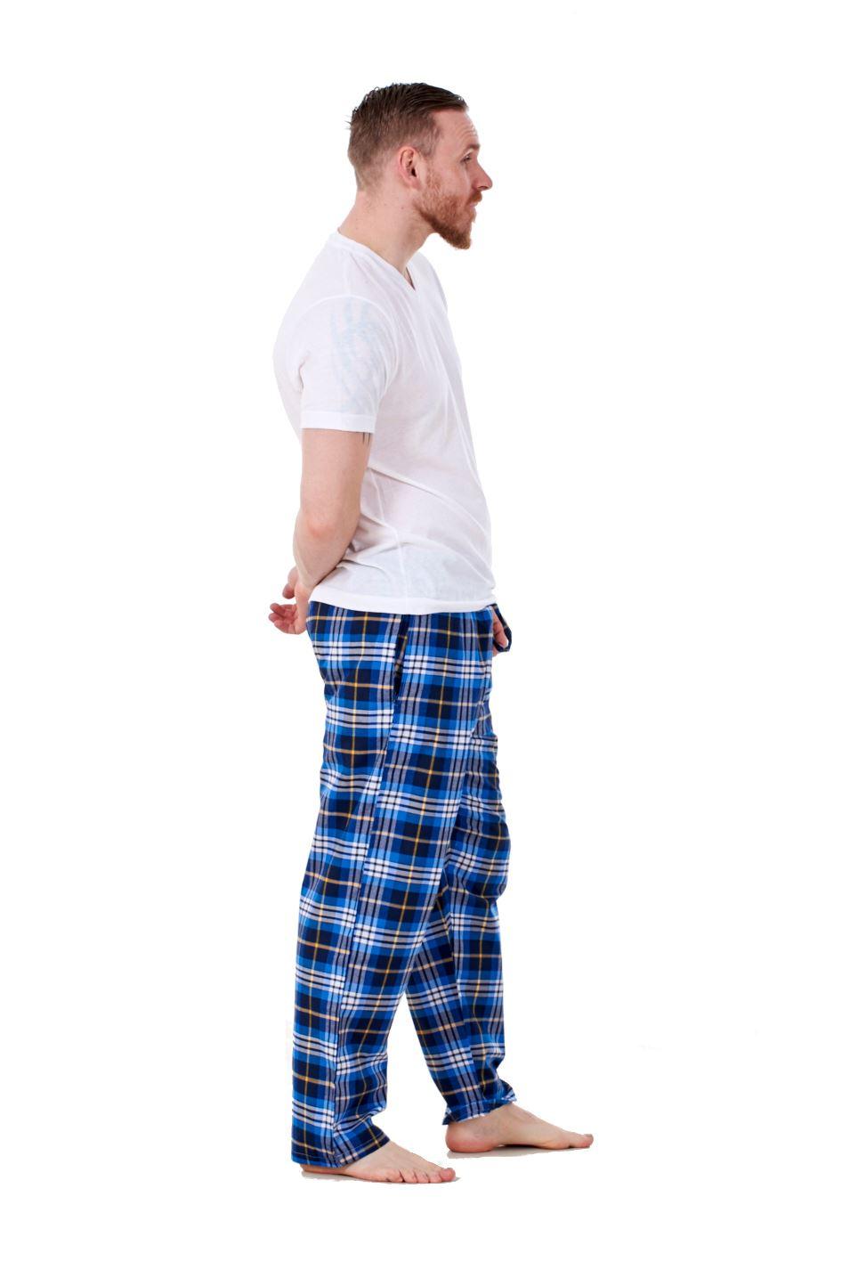 Mens-Pyjama-Bottoms-Rich-Cotton-Woven-Check-Lounge-Pant-Nightwear-Big-3XL-to-5XL Indexbild 62