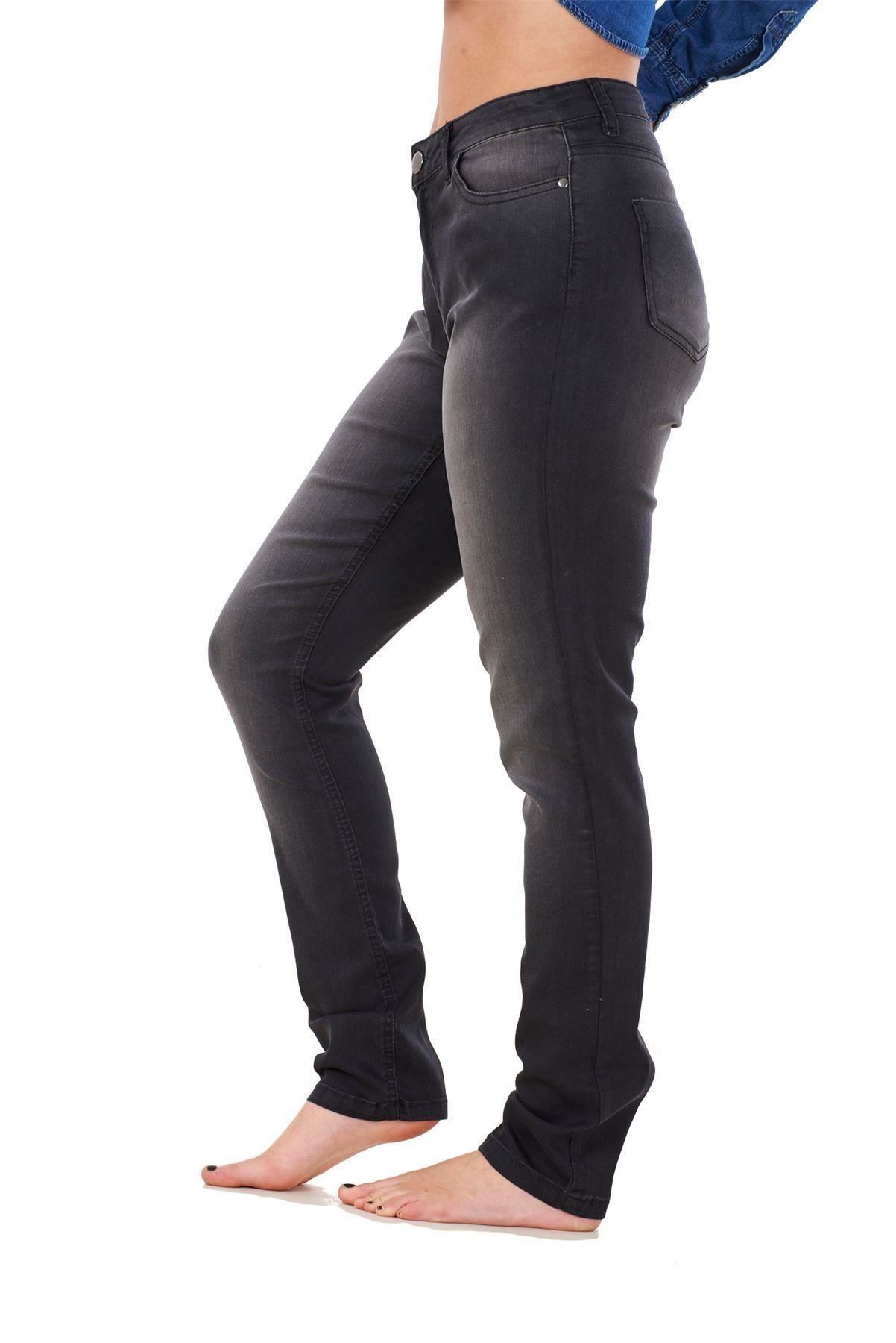 Ladies-Stretch-Jeans-Denim-cotton-Zip-fly-High-Waisted-Slim-Fit-Trousers-Pants thumbnail 12