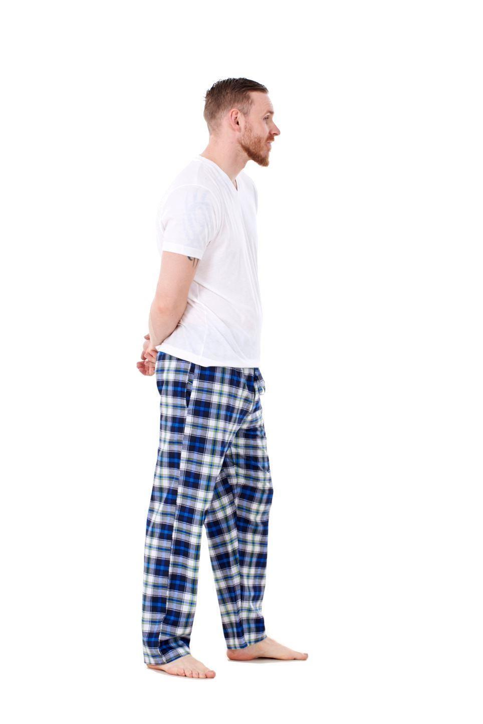 Mens-Pyjama-Bottoms-Rich-Cotton-Woven-Check-Lounge-Pant-Nightwear-Big-3XL-to-5XL Indexbild 44