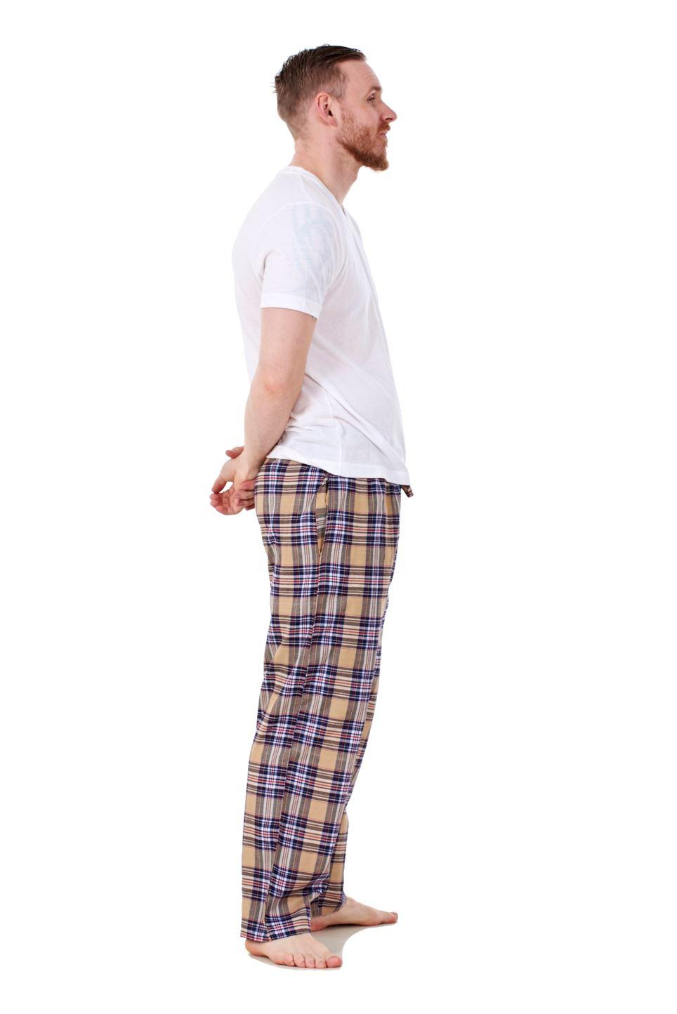 Mens-Pyjama-Bottoms-Rich-Cotton-Woven-Check-Lounge-Pant-Nightwear-Big-3XL-to-5XL Indexbild 29