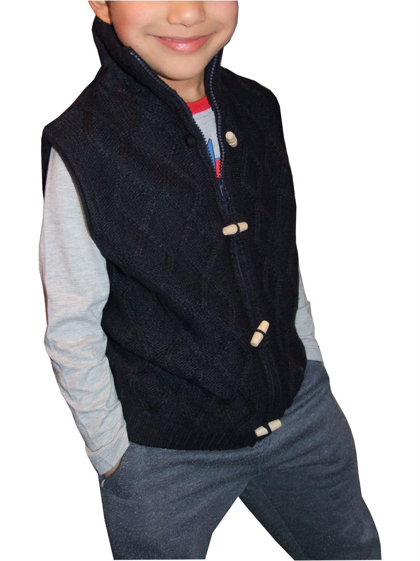 Boys Okaidi Fine Knit V Neck Jumper Cotton Navy Age 3 to 14 Years Kids