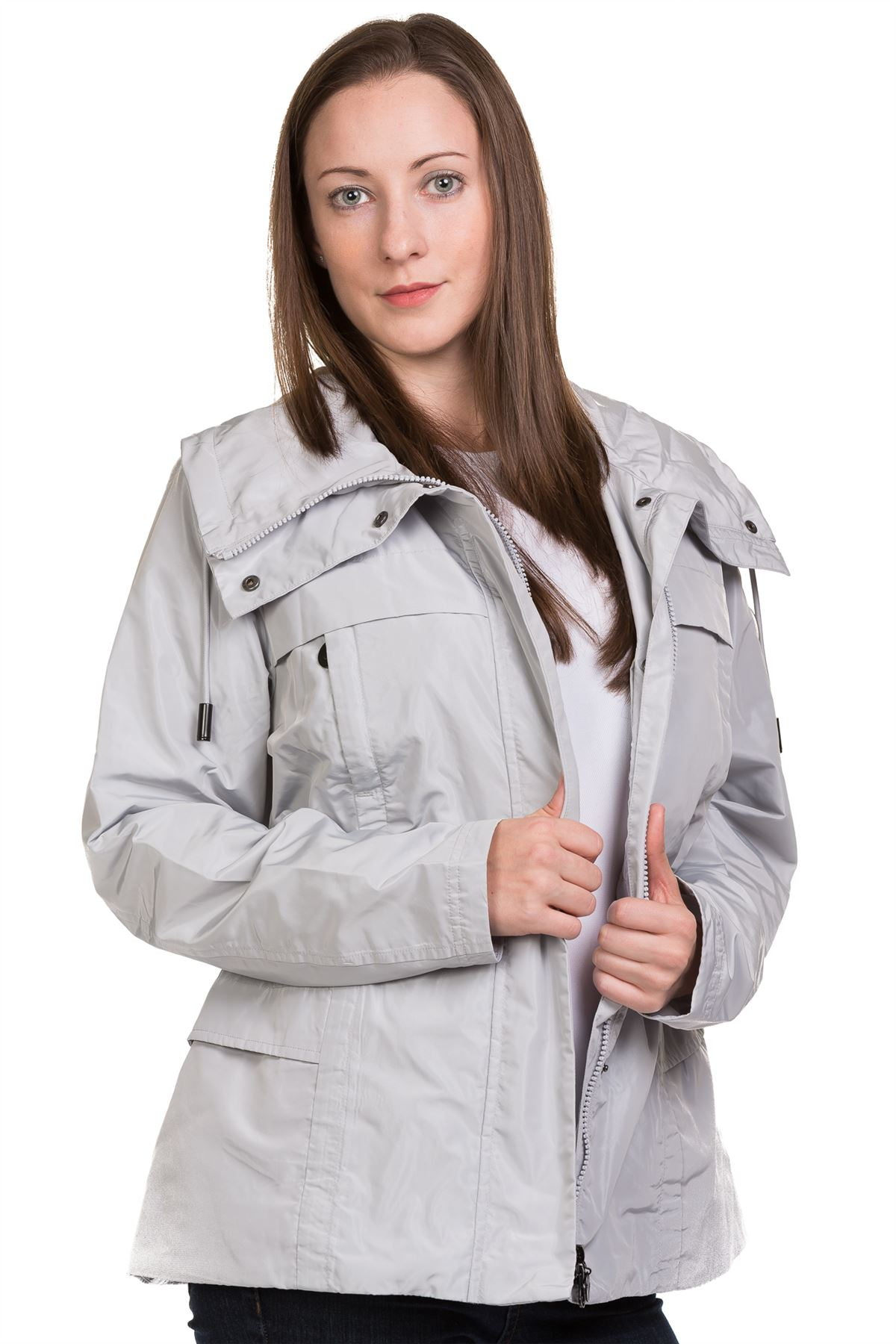 New-Ladies-casual-Jacket-Plain-Lining-Lightweight-Quality-outwear-Coat-8-16 thumbnail 8