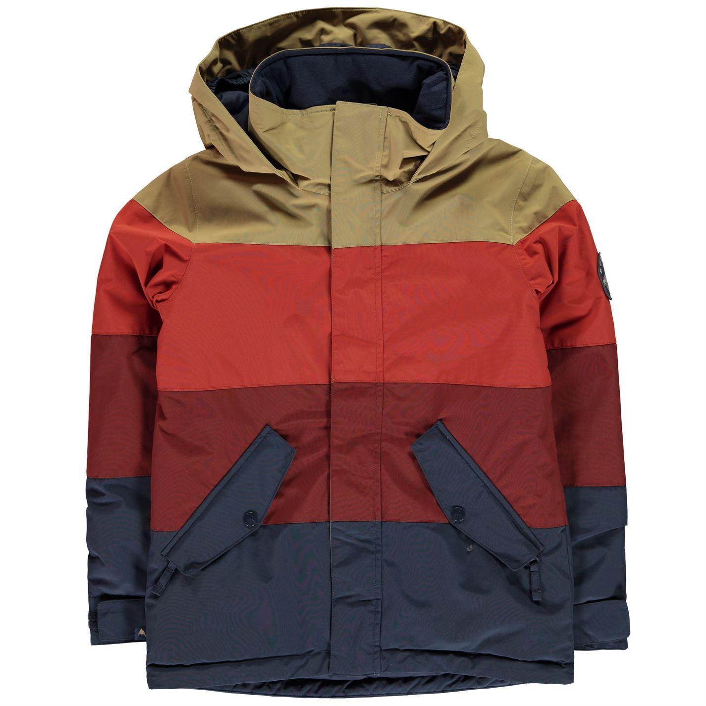 f9a16e39da Burton Kids Boys Symbol Jacket Junior Ski Coat Top Hooded Zip Full ...