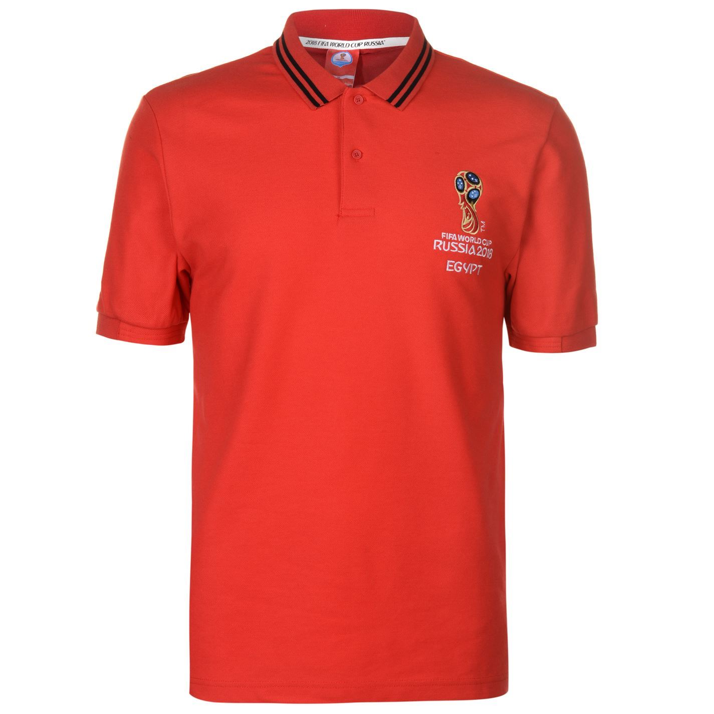 5ba55bd50 FIFA Mens World Cup Russia 2018 Egypt Polo Football Shirt Tee Top ...
