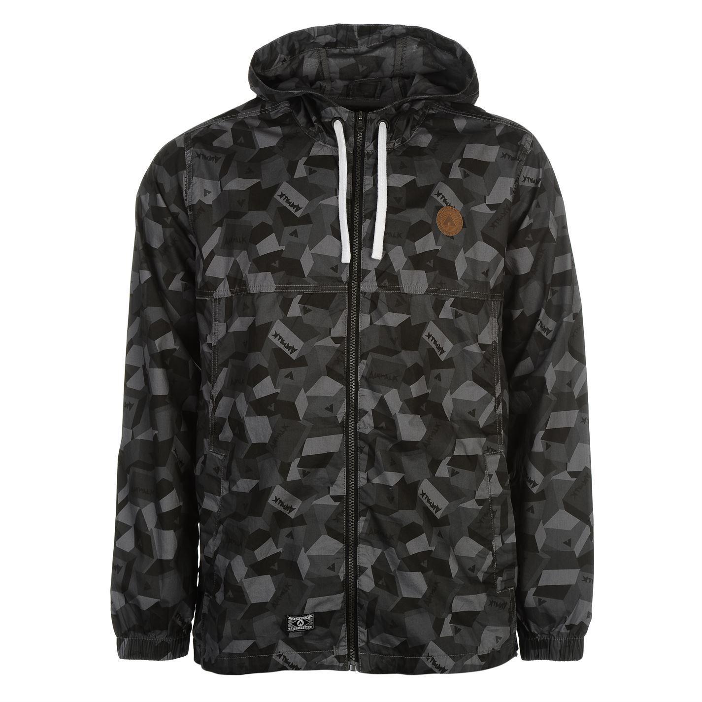 Airwalk Mens Hooded Jacket Top Coat Lightweight Long Sleeve ...