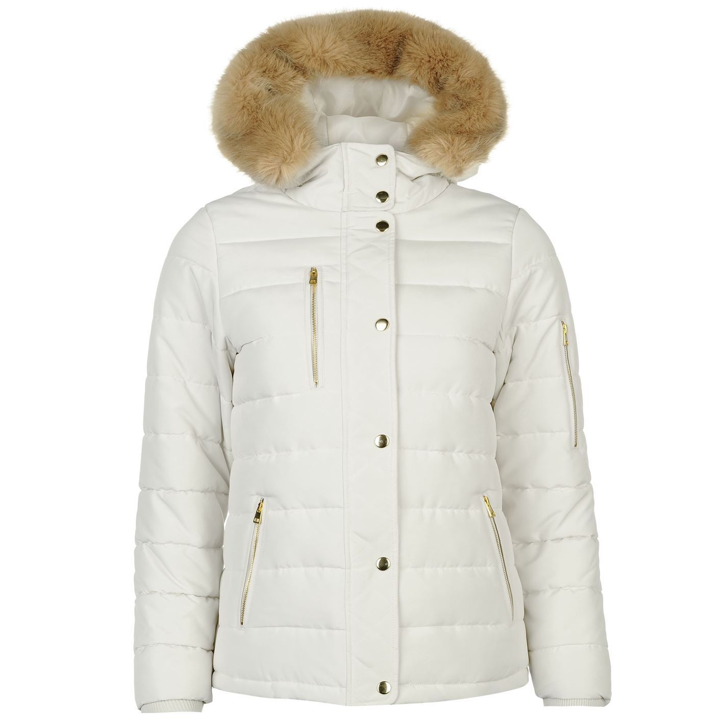Golddigga Womens Bubble Jacket Padded Coat Top Lightweight Hooded ... d6f0904cc3ea