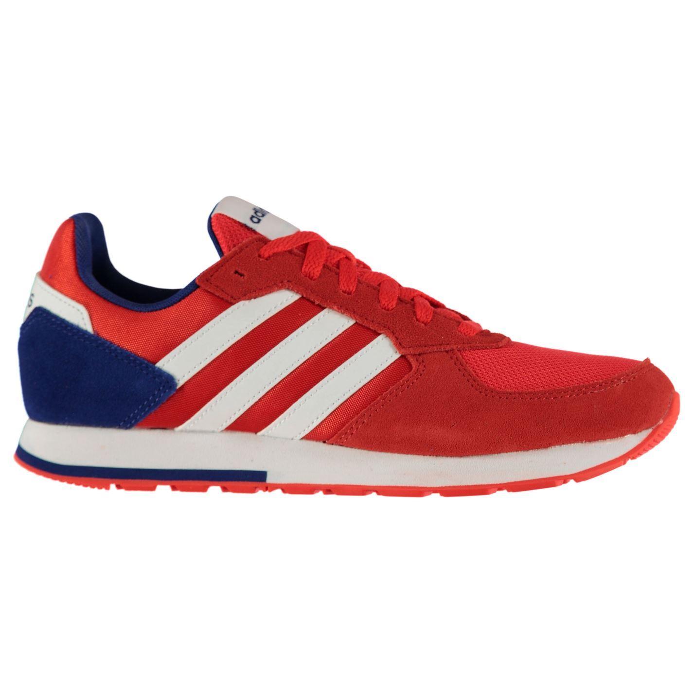 Adidas para hombre con 8K Zapatillas corredores con hombre cordones Parte superior de malla a rayas de gamuza 8b0e35