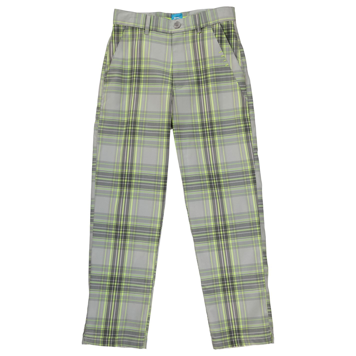 7f8f09dfd Slazenger Kids Boys Checked Golf Trousers Junior Pants Bottoms Sports Casual