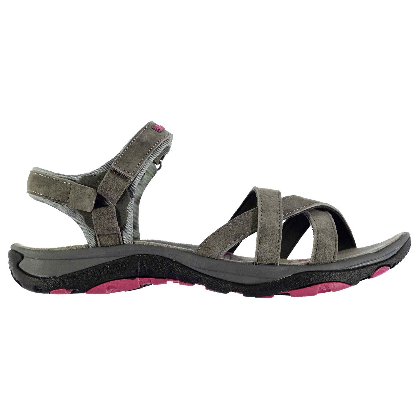 813a515c7248 Karrimor Womens Salina Leather Walking Sandals Shoes Touch and Close ...