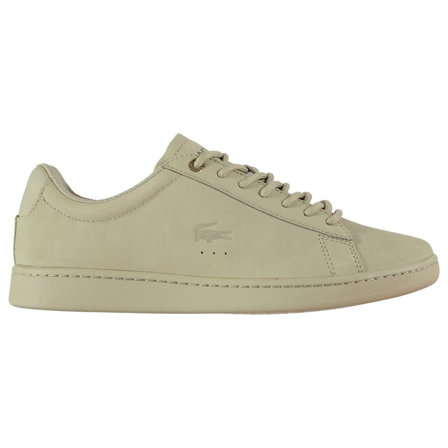 e0e04d3bc Mens LACOSTE Lacoste Carnaby Evo Gsp Trainers Low Lace Up Tonal Stitching  New