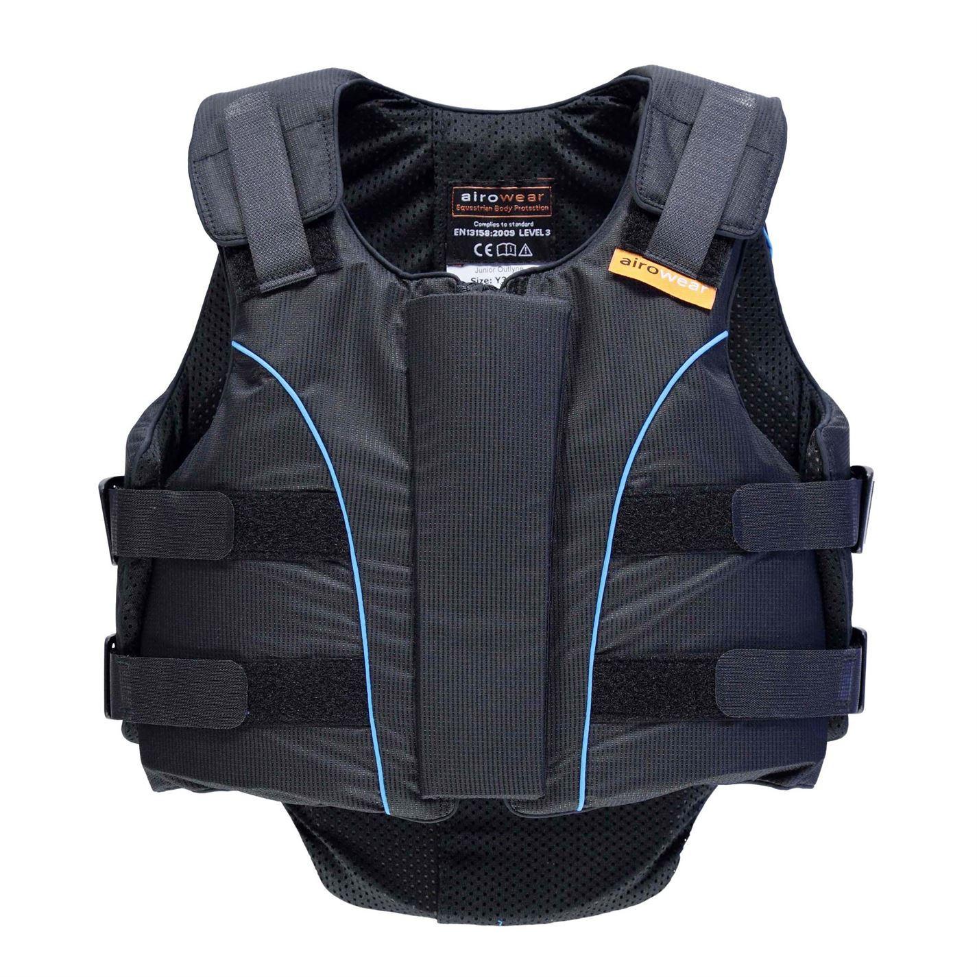 Airowear niños Junior outlyne Cuerpo Protector Junior niños Rider protección Ligero Cremallera 367a02