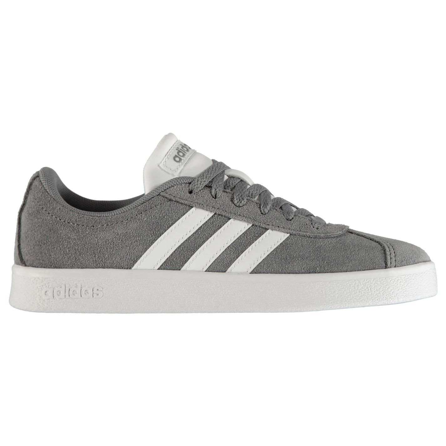 700104176cec Fastened Adidas Childrens Sneakers Laces Vl Stripe Suede Ebay Court YYBqC