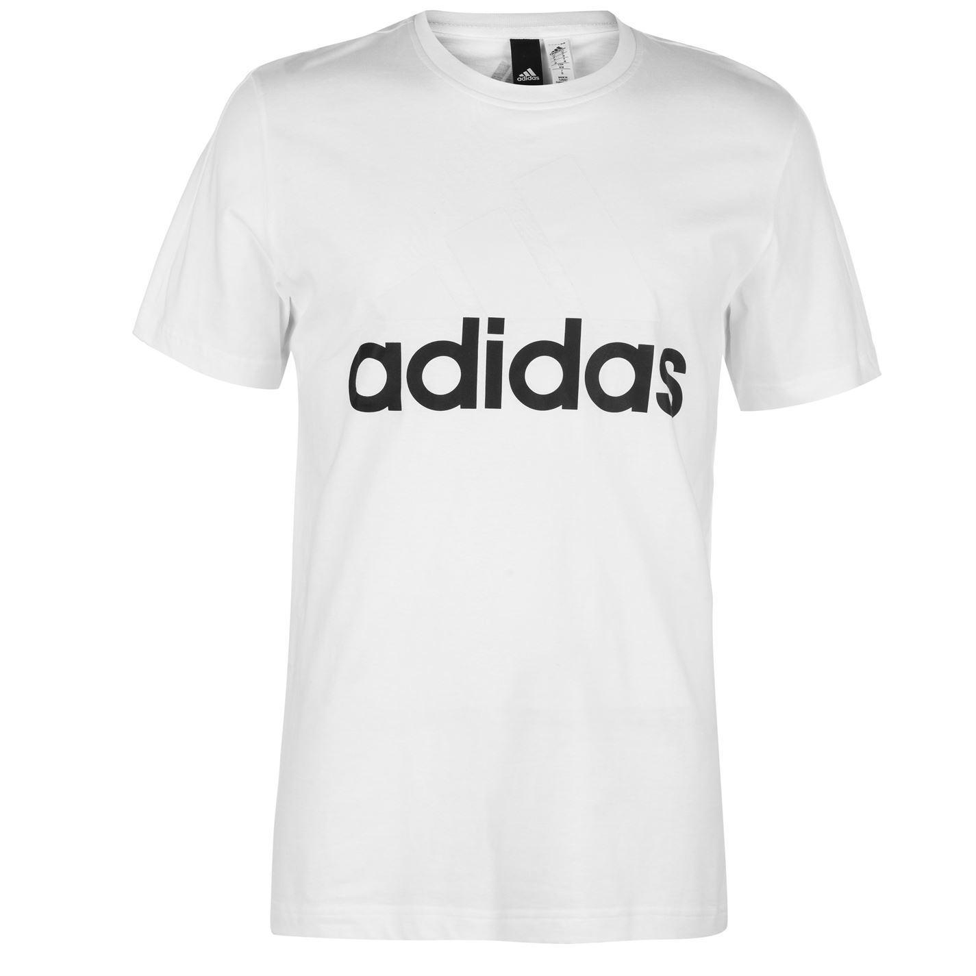 Herren adidas Linear Logo T-Shirt Rundhalsausschnitt Kurzarm Neu