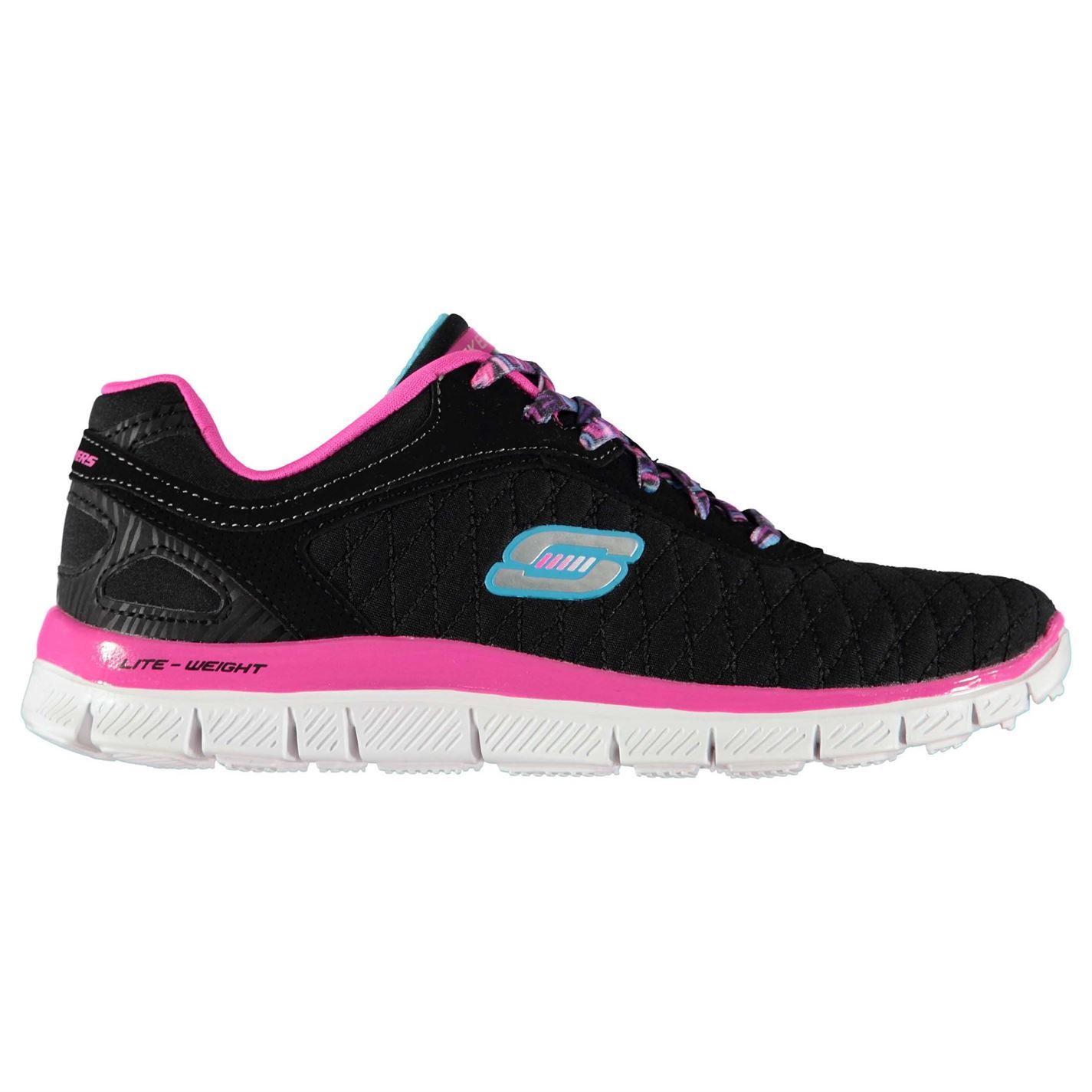 Skechers-Kids-Girls-Flex-Appeal-Scarpe-da-ginnastica-corridori-Lacci-leggera-comoda
