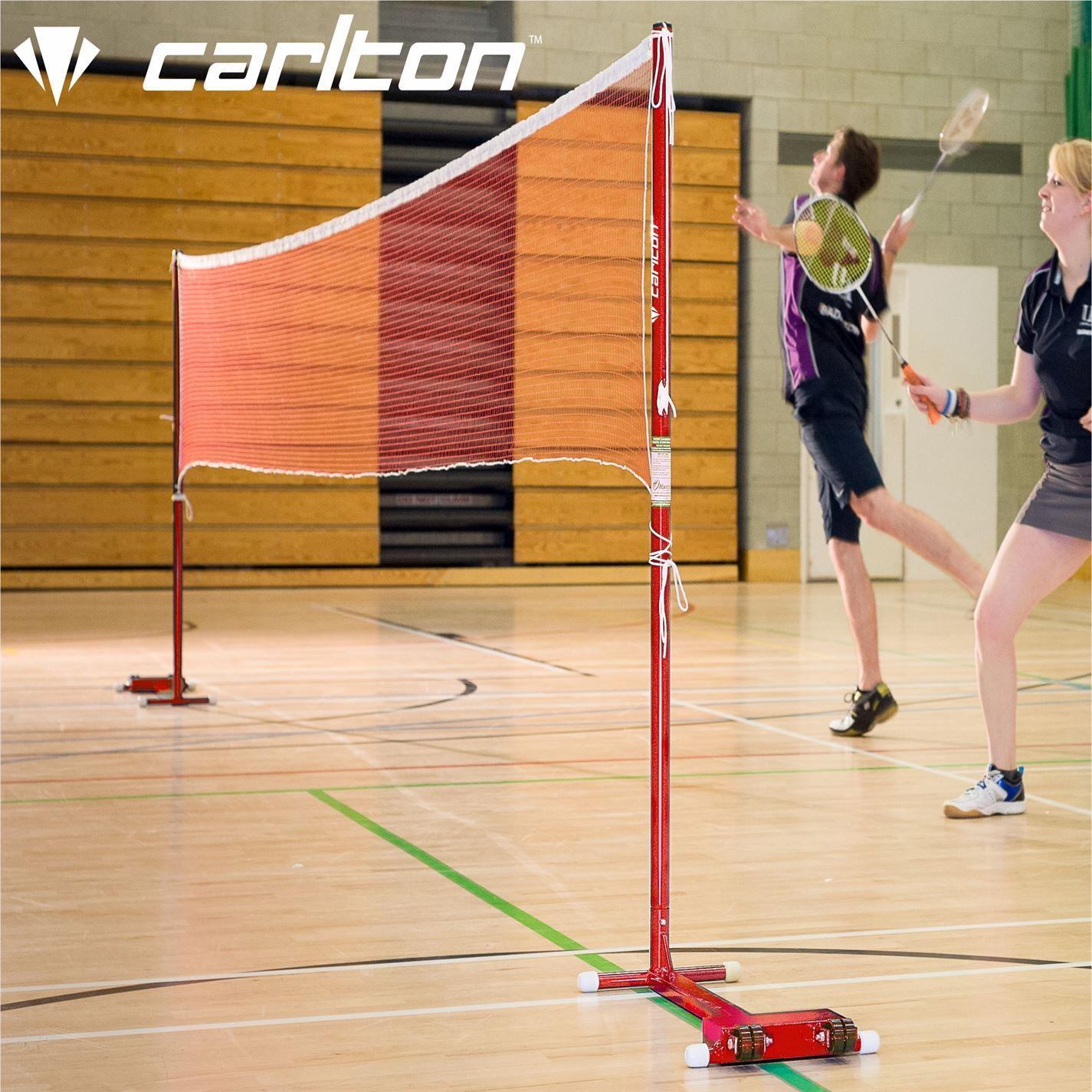 Carlton Wheelaway Badminton Posts And Net Unisex Set Ebay