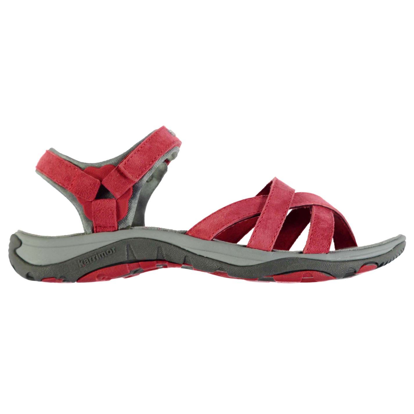 ba07d139803a3 Karrimor Womens Salina Leather Walking Sandals Shoes Touch and Close ...