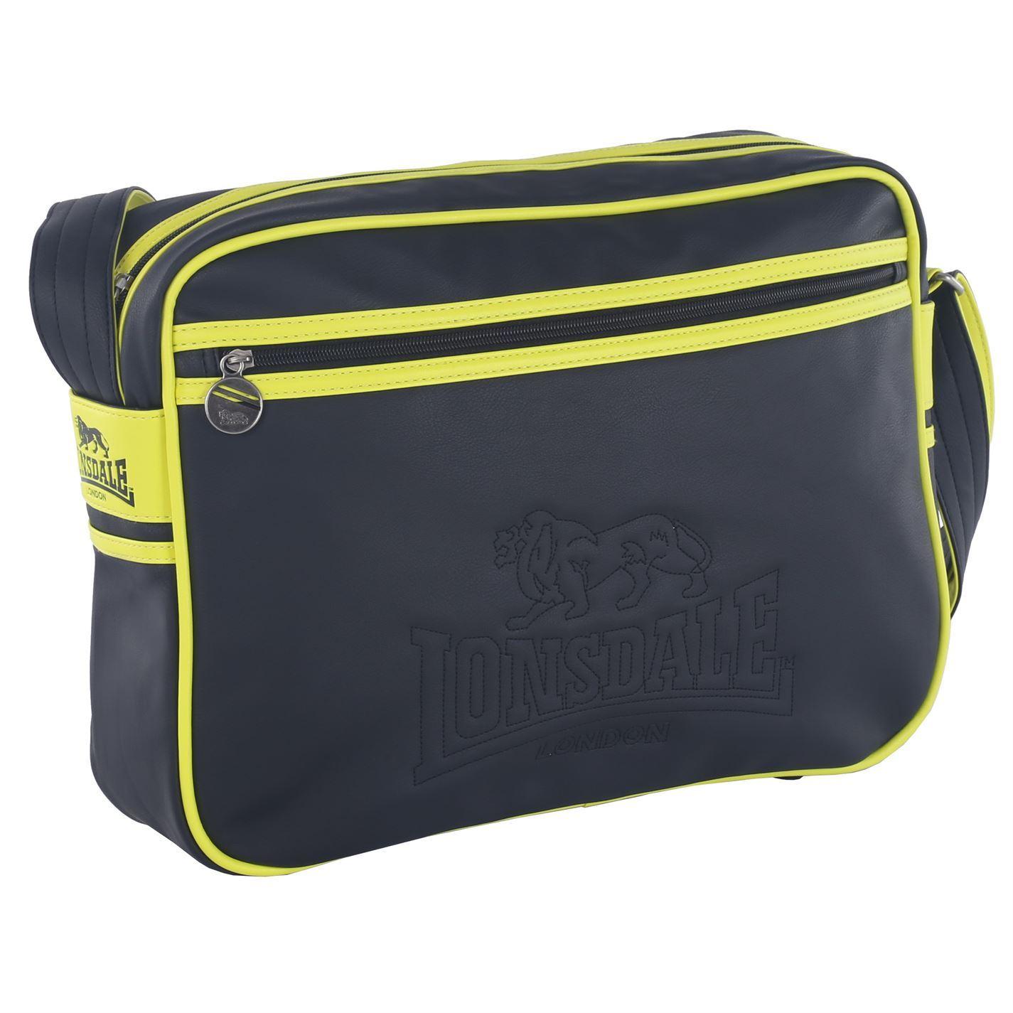 be2fcad6edf Details about Lonsdale Fluorescent Flight Bag Luggage Storage Carry Shoulder  Strap Accessories