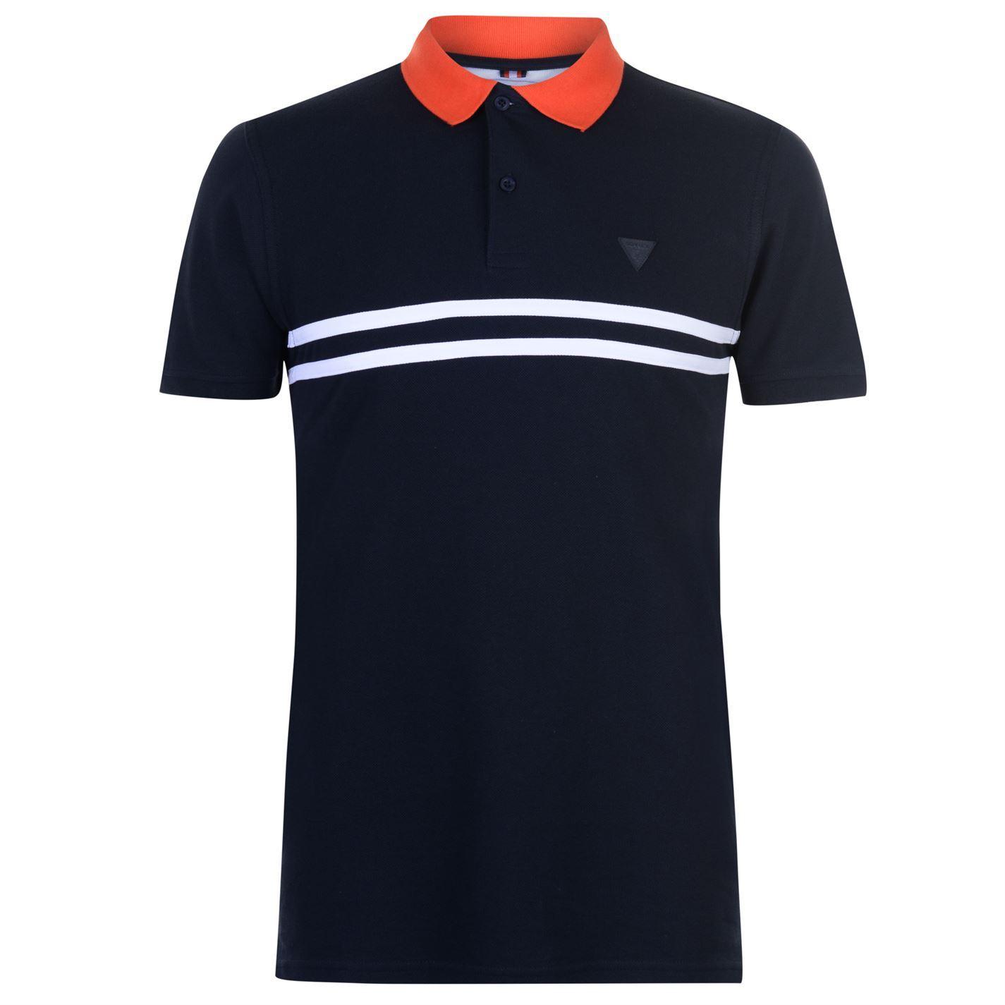 69d46504e Details about Mens Soviet Chest Stripe Polo Shirt Slim Fit Short Sleeve New