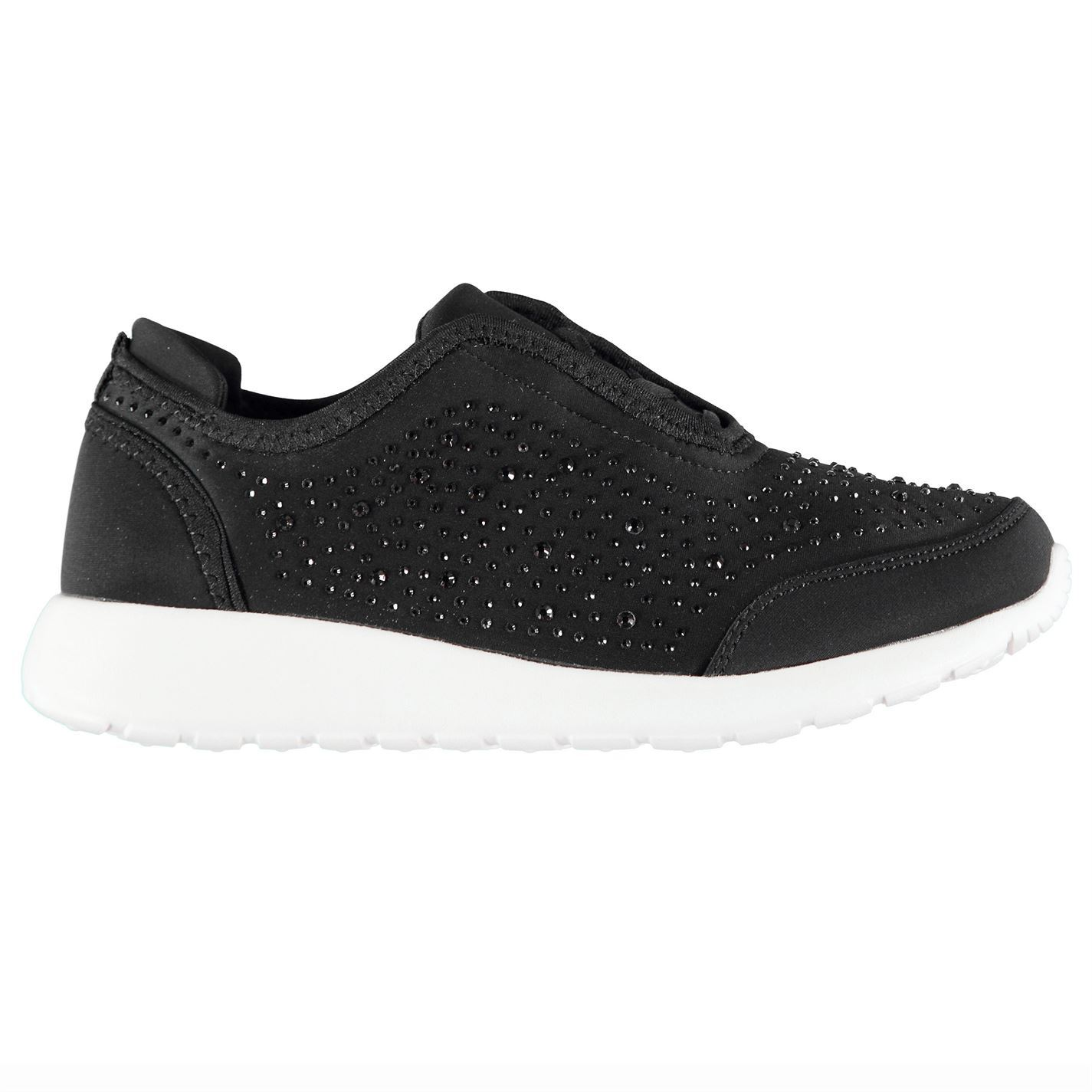 Womens Fabric Pero Trainers Runners Lace Up Tonal Stitching New