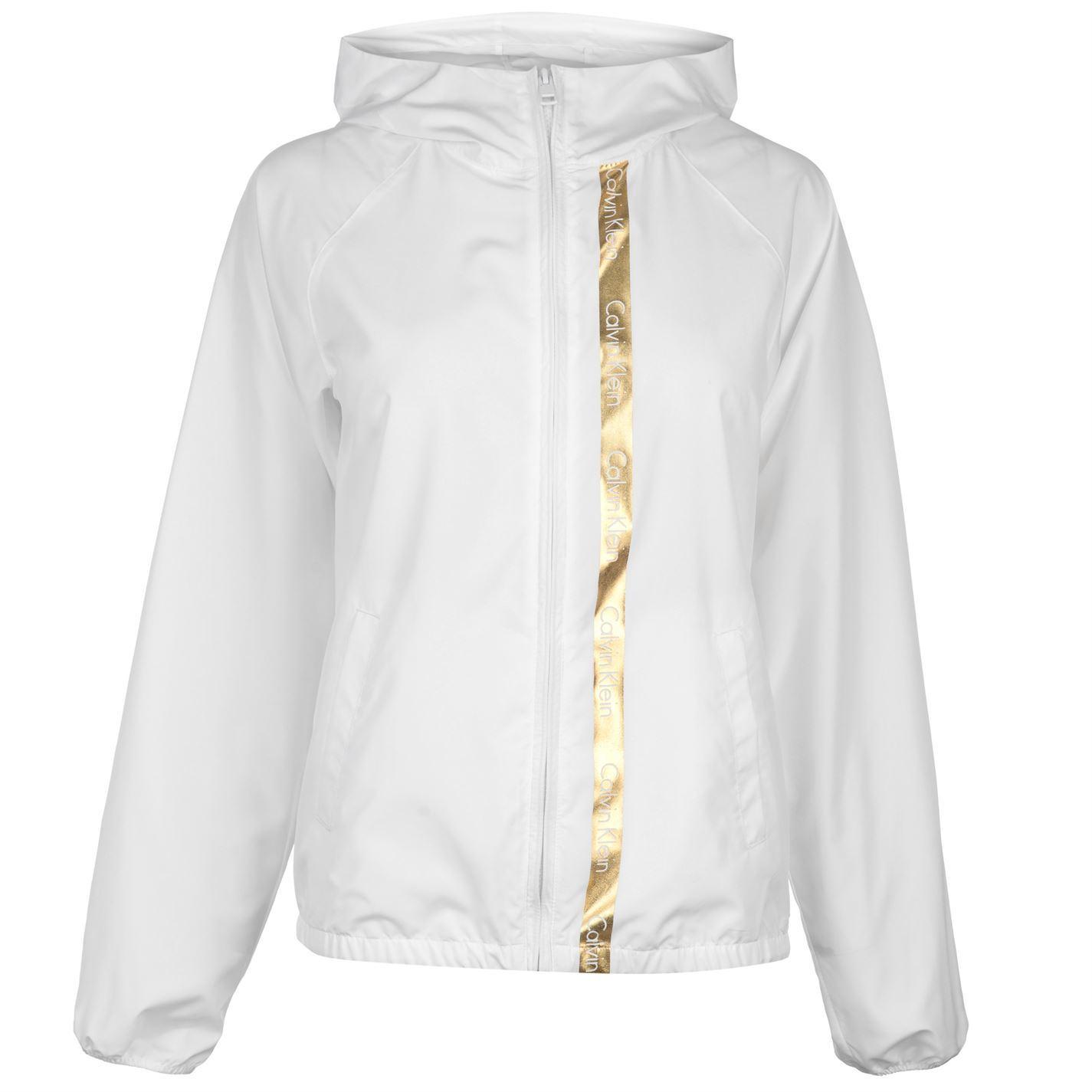 Womens Calvin Klein Beach Windbreaker Rain Jacket Long Sleeve New  0af066774b
