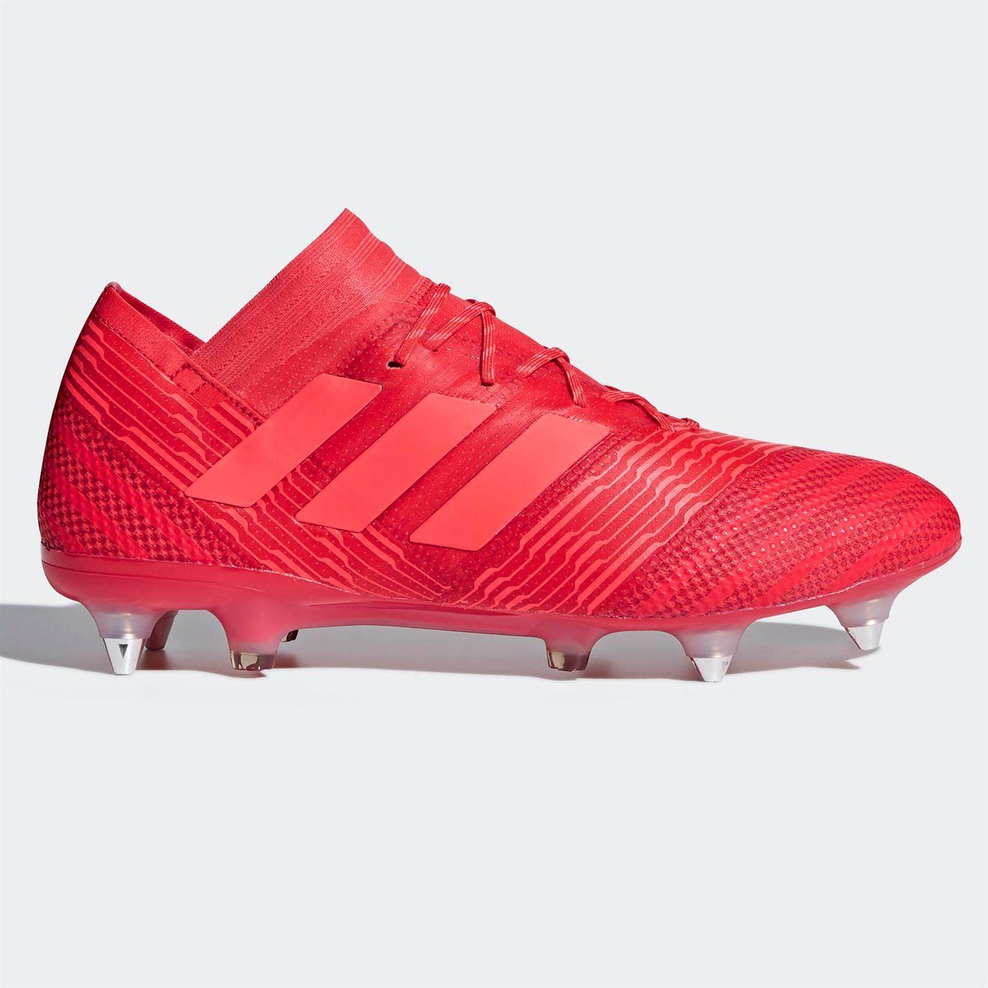 3e325dd9d773 adidas Mens Nemeziz 17.1 SG Football Boots Soft Ground Lace Up Studs Knit