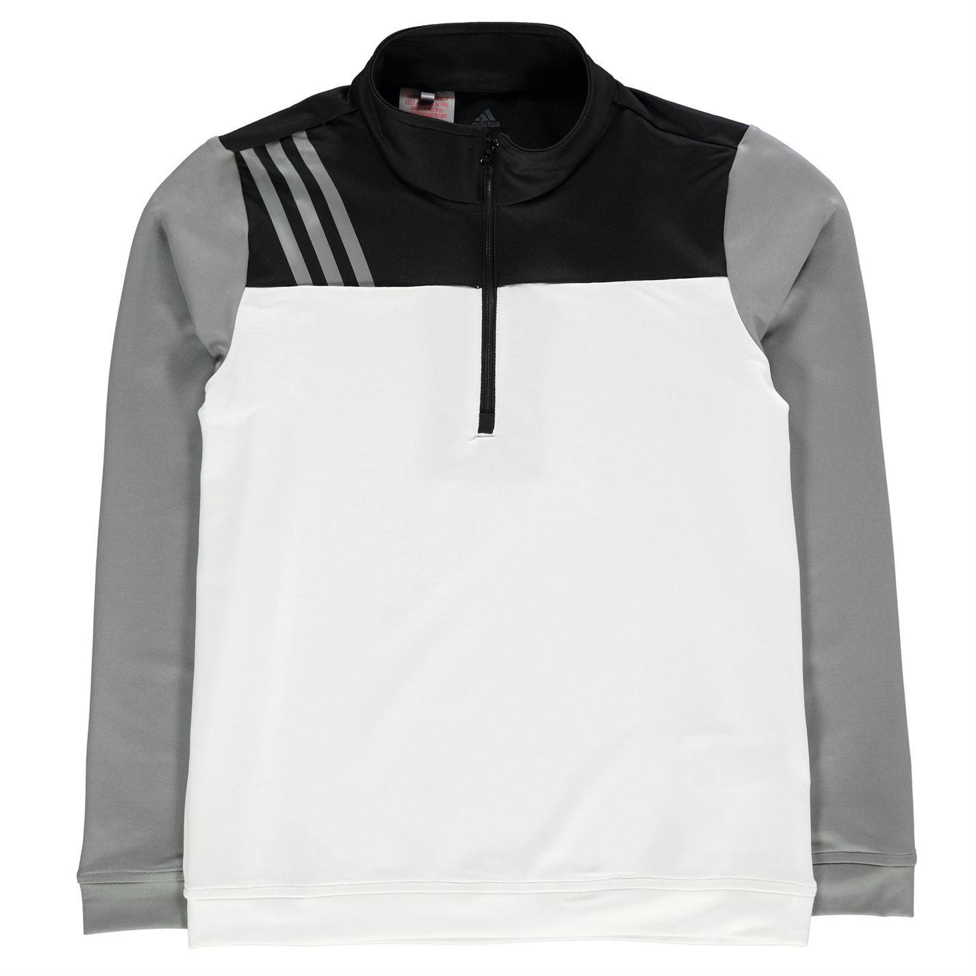 adidas Kids Boys 3 Stripe Half Zip Top Junior Pullover Sweater ... 2c2ef2725eca