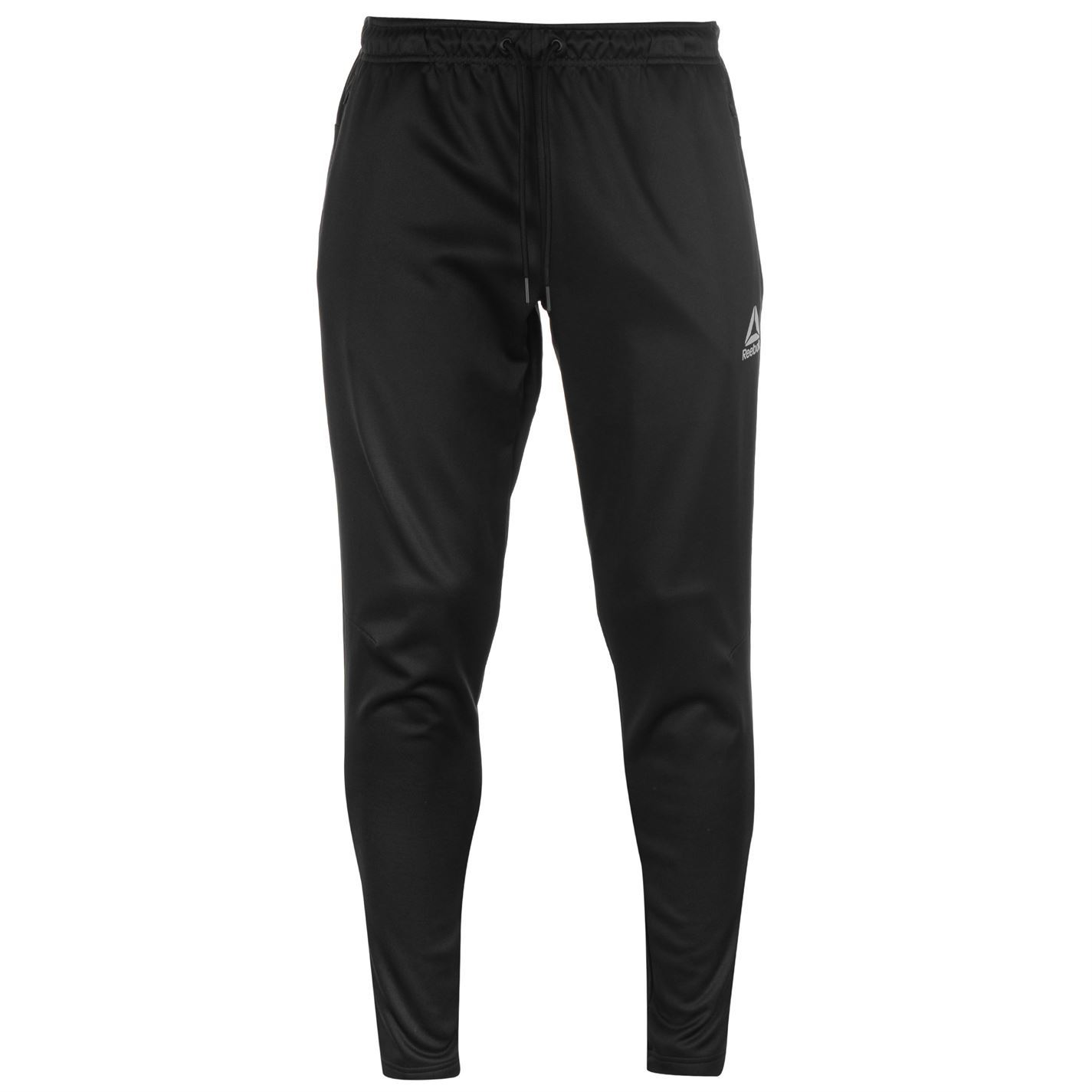 Reebok Mens Elitage Fleece Pants Jogging Bottoms Trousers Zip Warm  Drawstring 496874e646