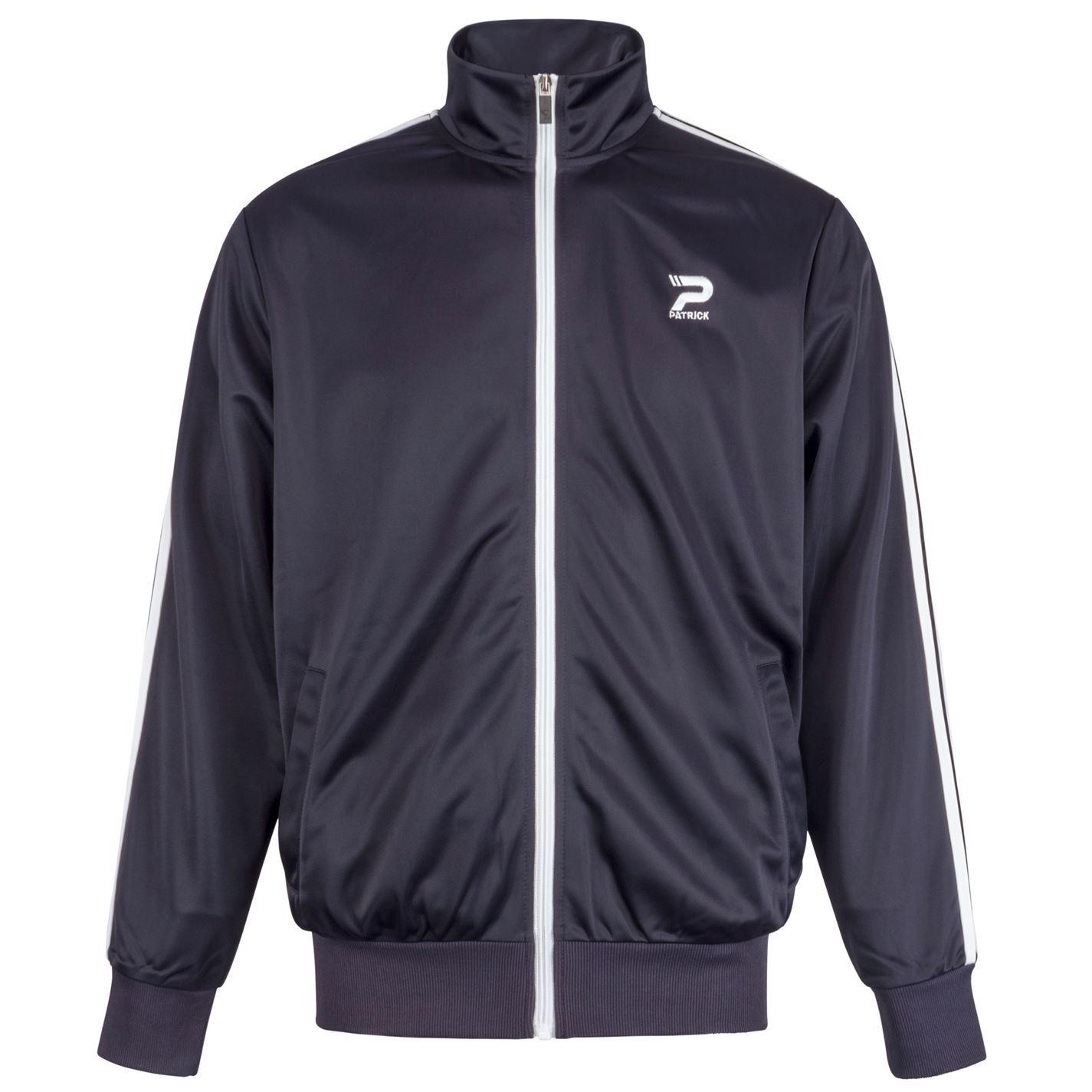 Patrick-Mens-Track-Jacket-Tracksuit-Top-Coat-Zip-Elasticated-Cuffs-Retro