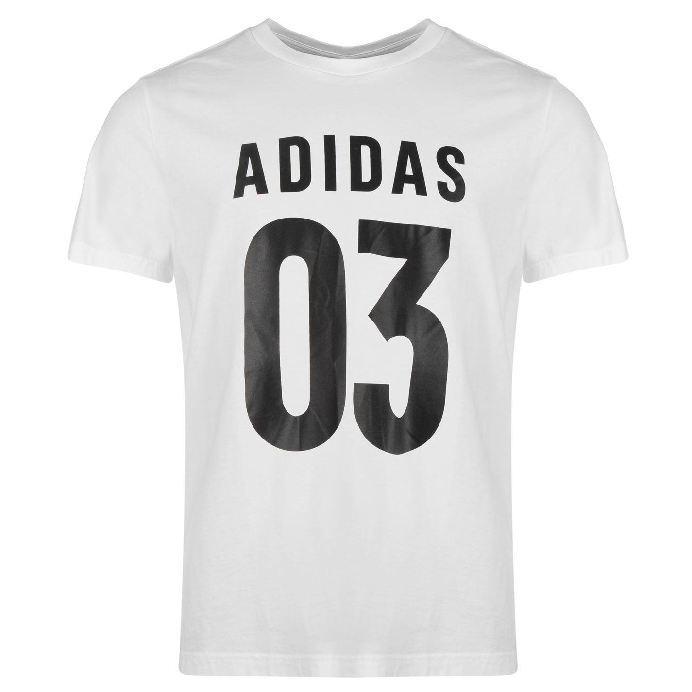 adidas Sleeve Top Crew Shirt 03 Tee Mens Gents Short Neck Cotton T O8rOvwq
